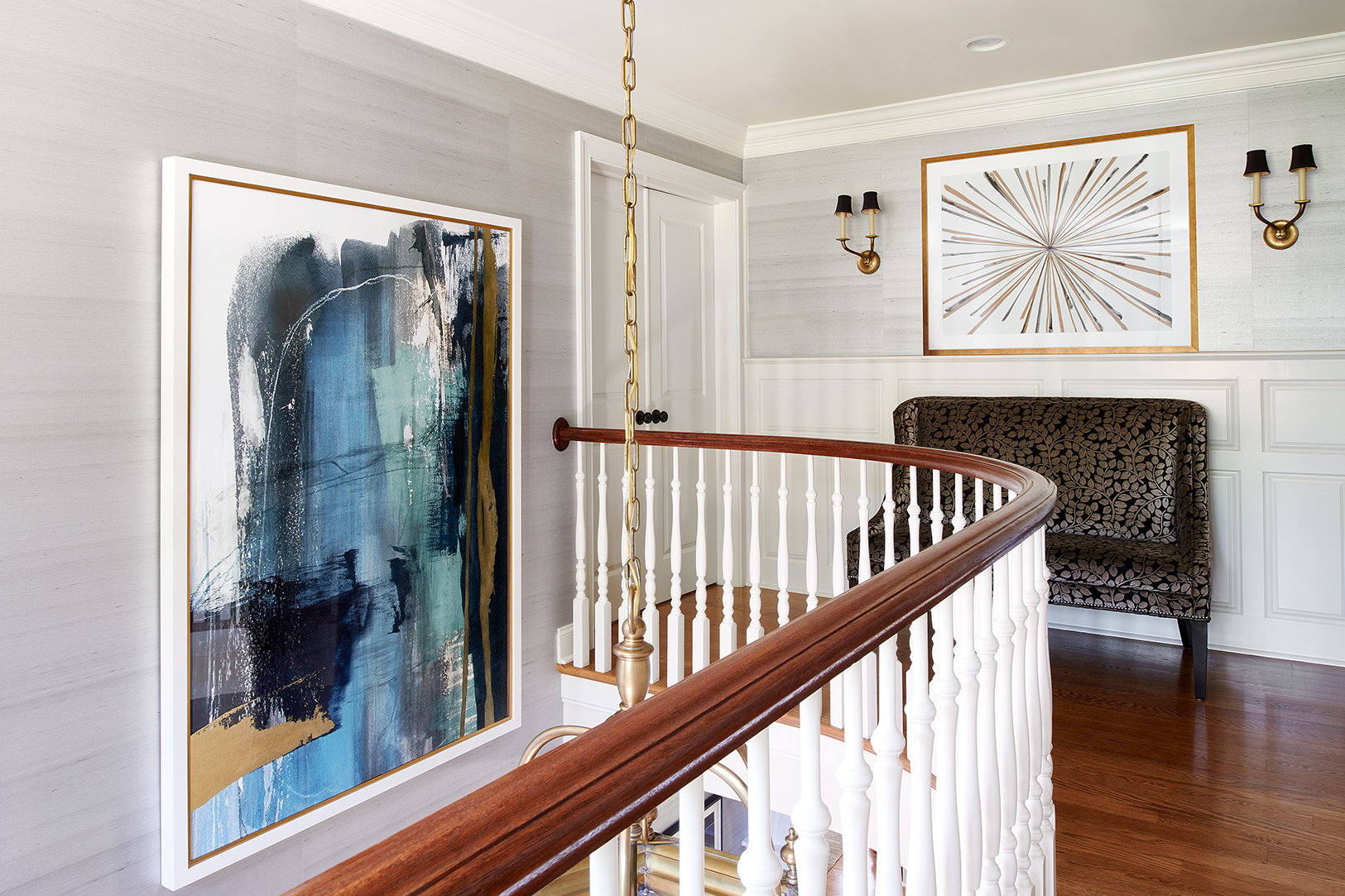 New Traditional Home. Second floor gallery. by Savery Design