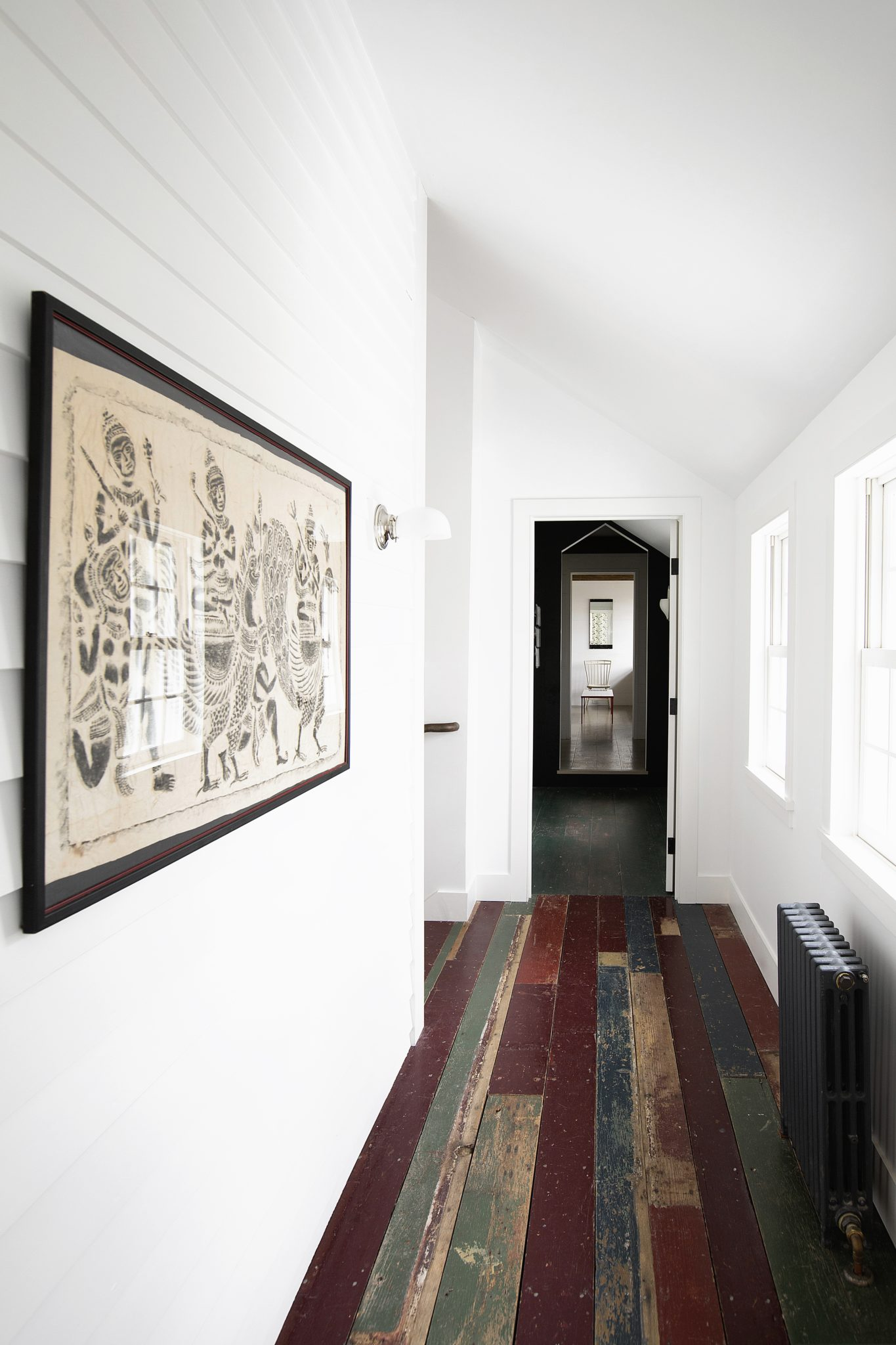 Connecticut Farmhouse, Hall with Original Flooring by Douglas C. Wright Architects