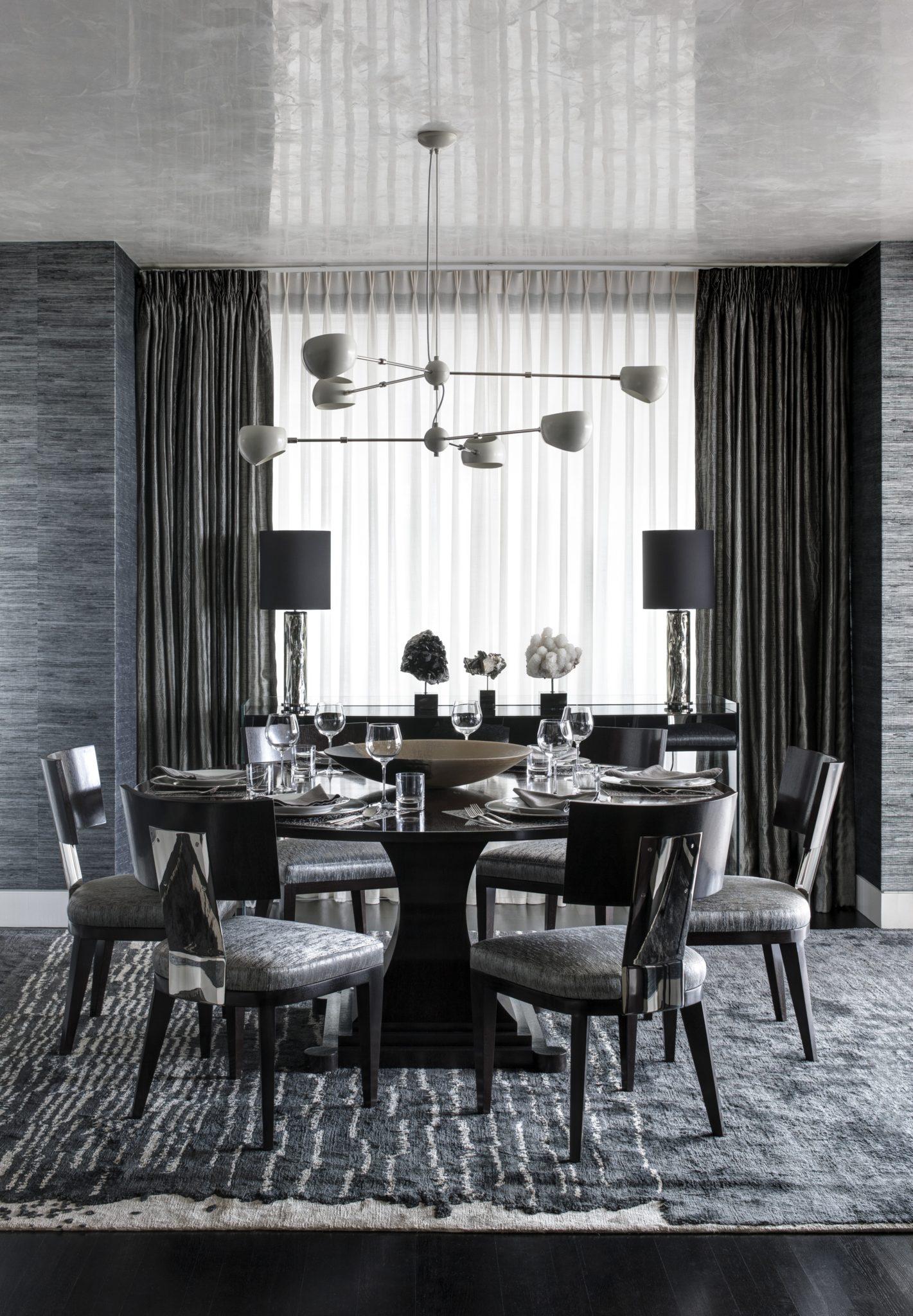 Ritz Carlton Residences, Boston; Venetian Plaster ceiling, Custom furnishings by Eric Roseff Designs