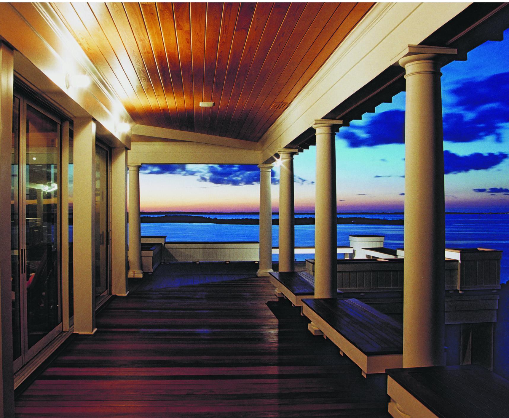 Porch, Abaco, Bahamas by Jaycox Architects & Associates