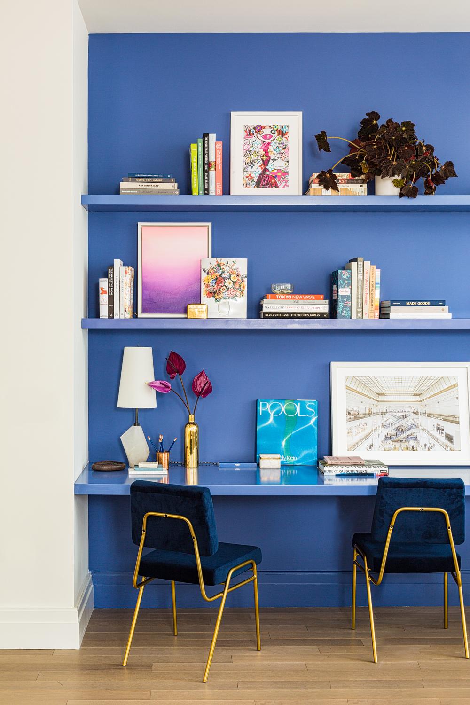 100 Barclay x Domino Magazine Model Residence - Manhattan, Home Office by Bennett Leifer Interiors