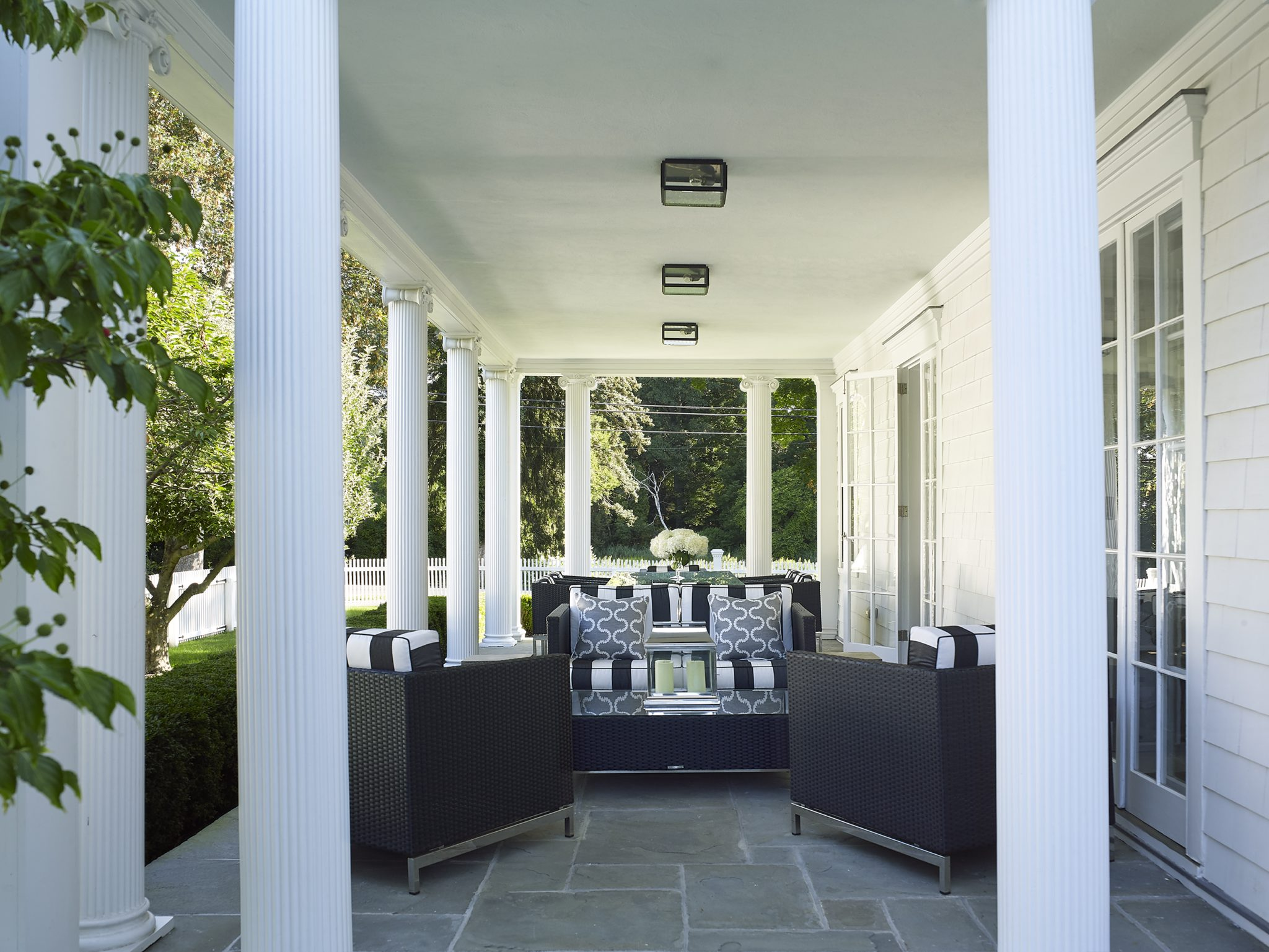 Southport, Connecticut, Porch by Ken Gemes Interiors