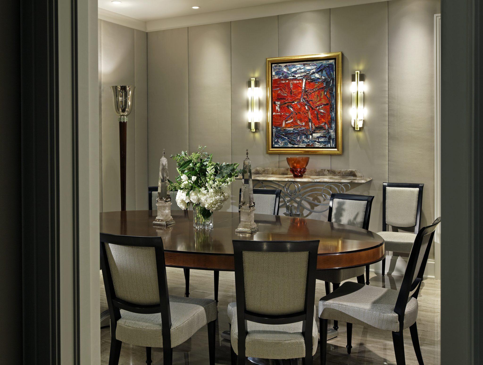 Art Deco home dining room by Douglas Design Studio