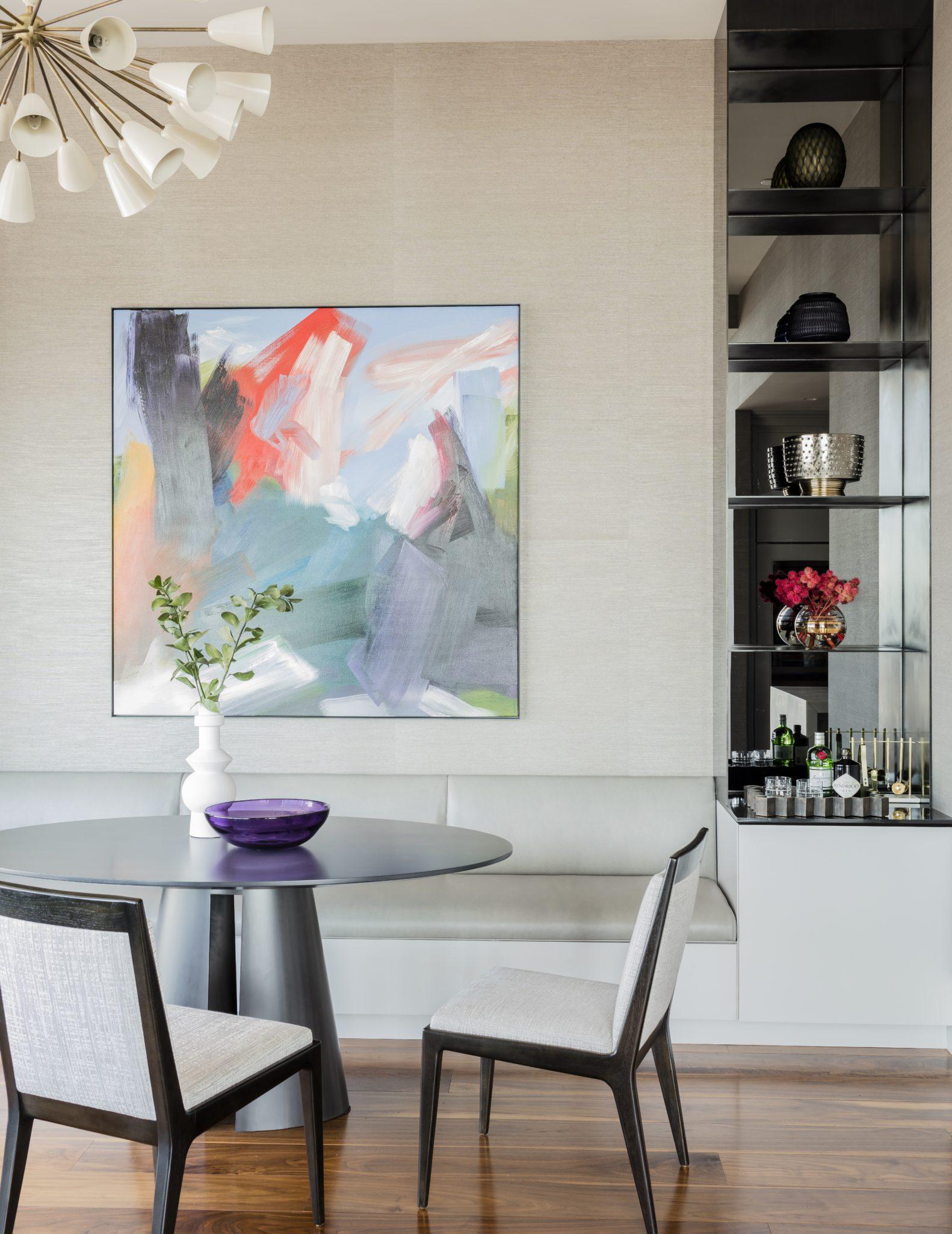Millennium Tower Boston - dining room by Elms Interior Design