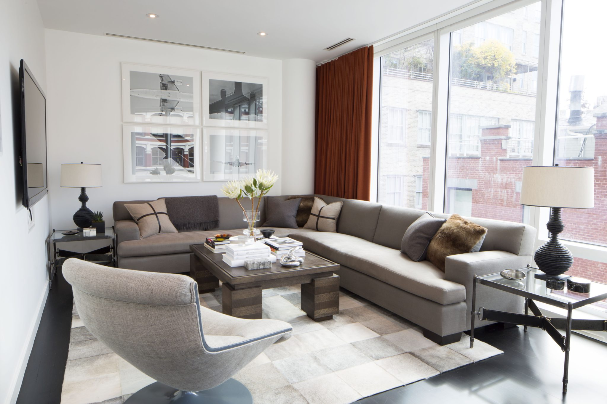 Astor Place - modern living roomby J. PATRYCE DESIGN