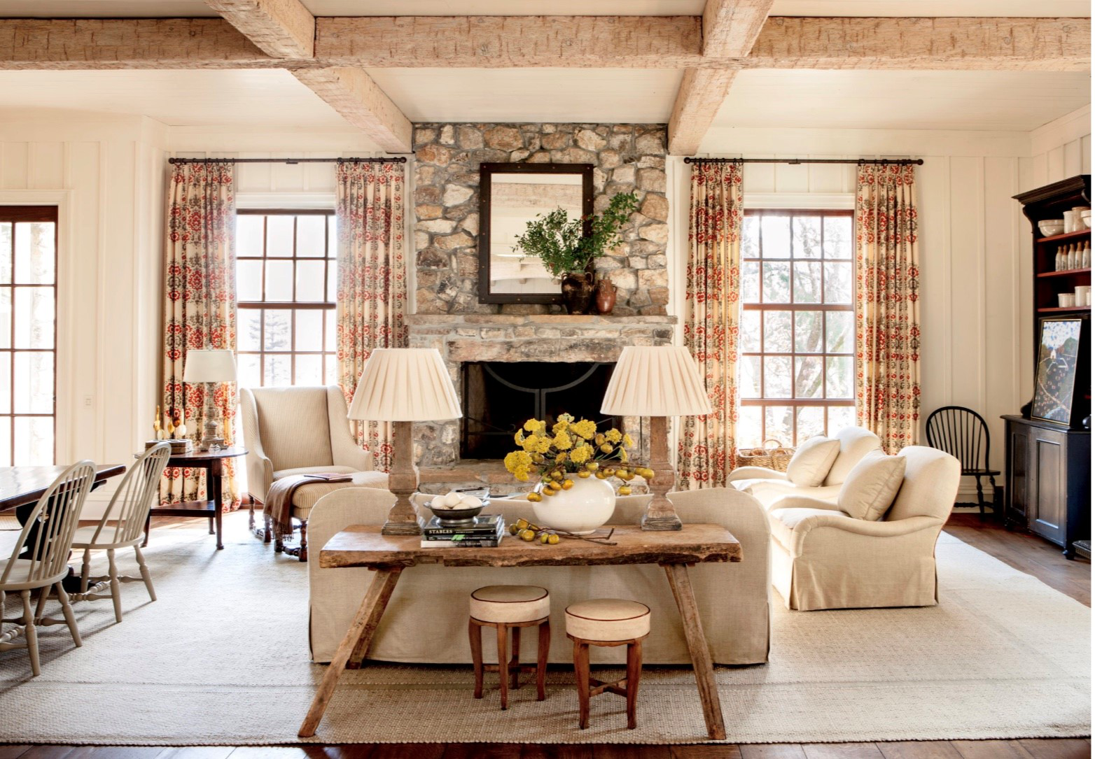 Family Room Featuring Interiors by Suzanne Kasler and Architecture by Spitzmiller and Norris