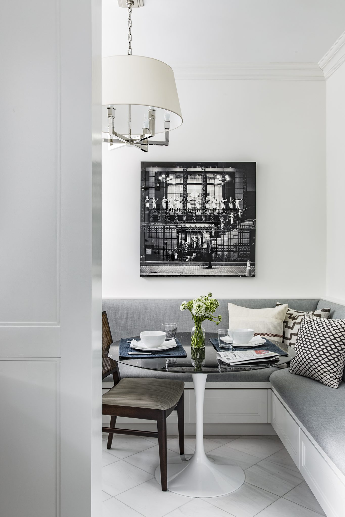 """Perfect Pre-War"" - Upper West Side apartment - breakfast nook by James Wagman Architect"