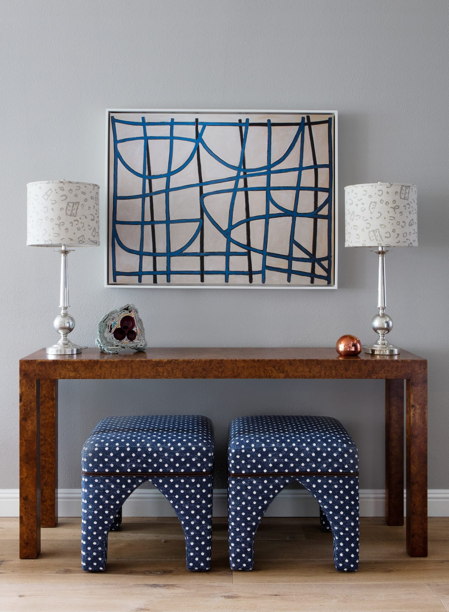Pattern at Play in this Eclectic Entry by Stefani Stein Inc.