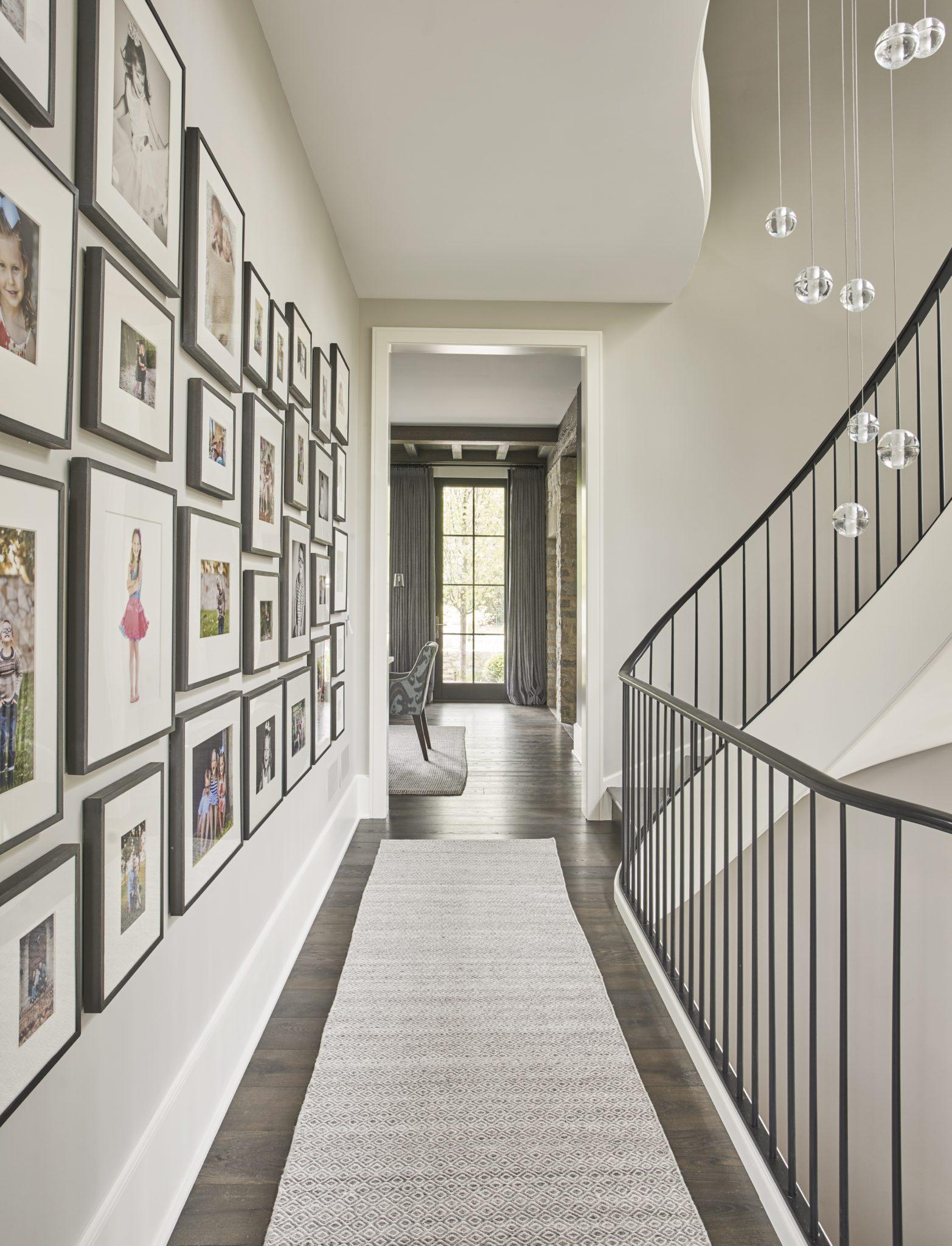 Fun, assorted gallery wall by Elizabeth Krueger Design