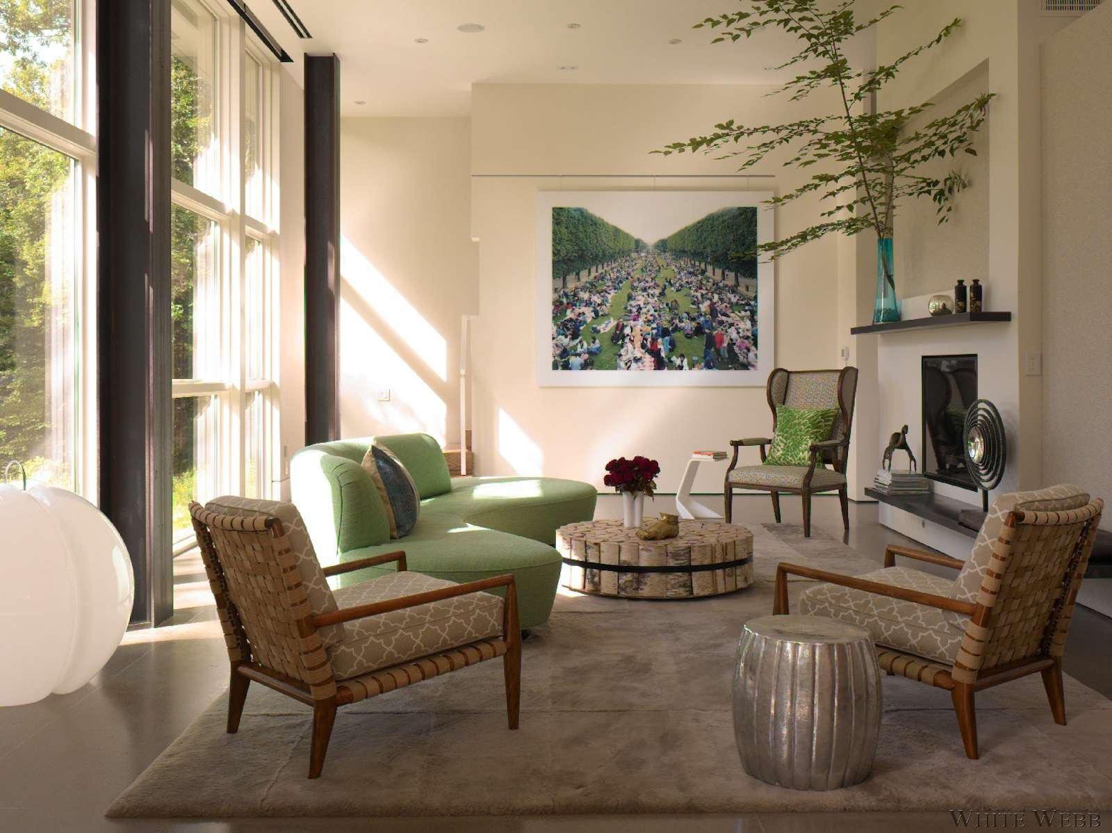 Modern Country House Living Room by White Webb