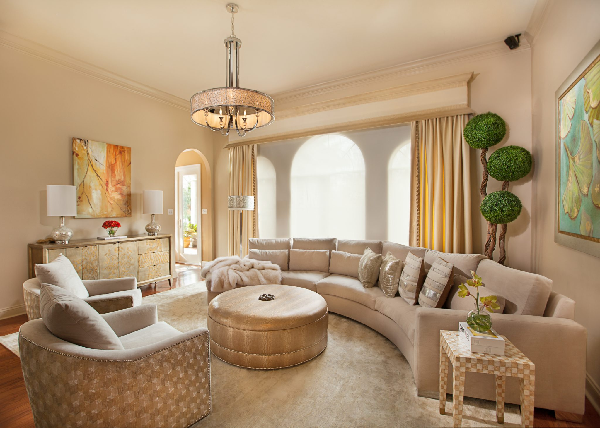 Transitional Living Room by Posh Exclusive Interiors