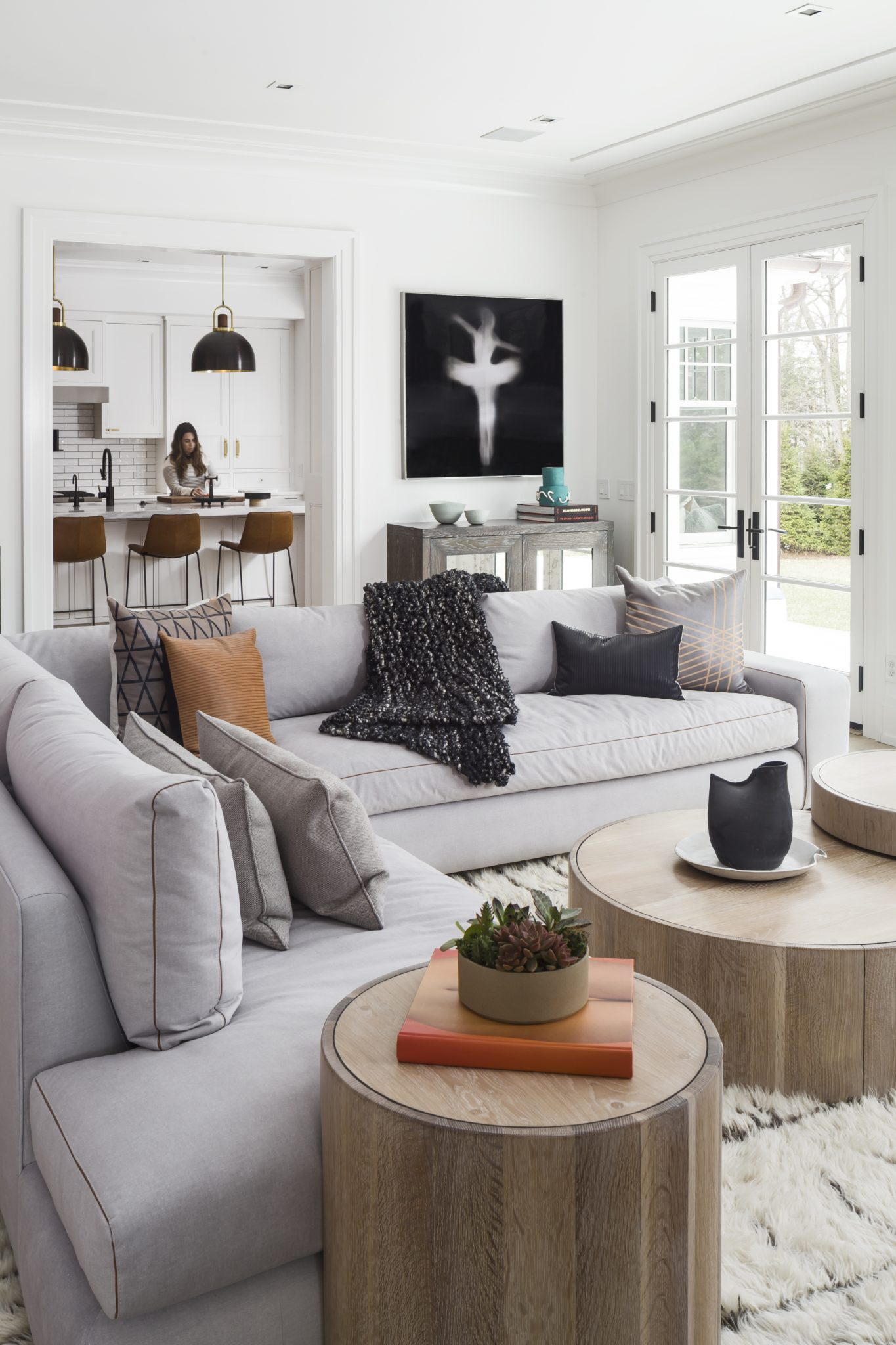 Scarsdale Home, Family Room with view to Kitchen by Current Interiors