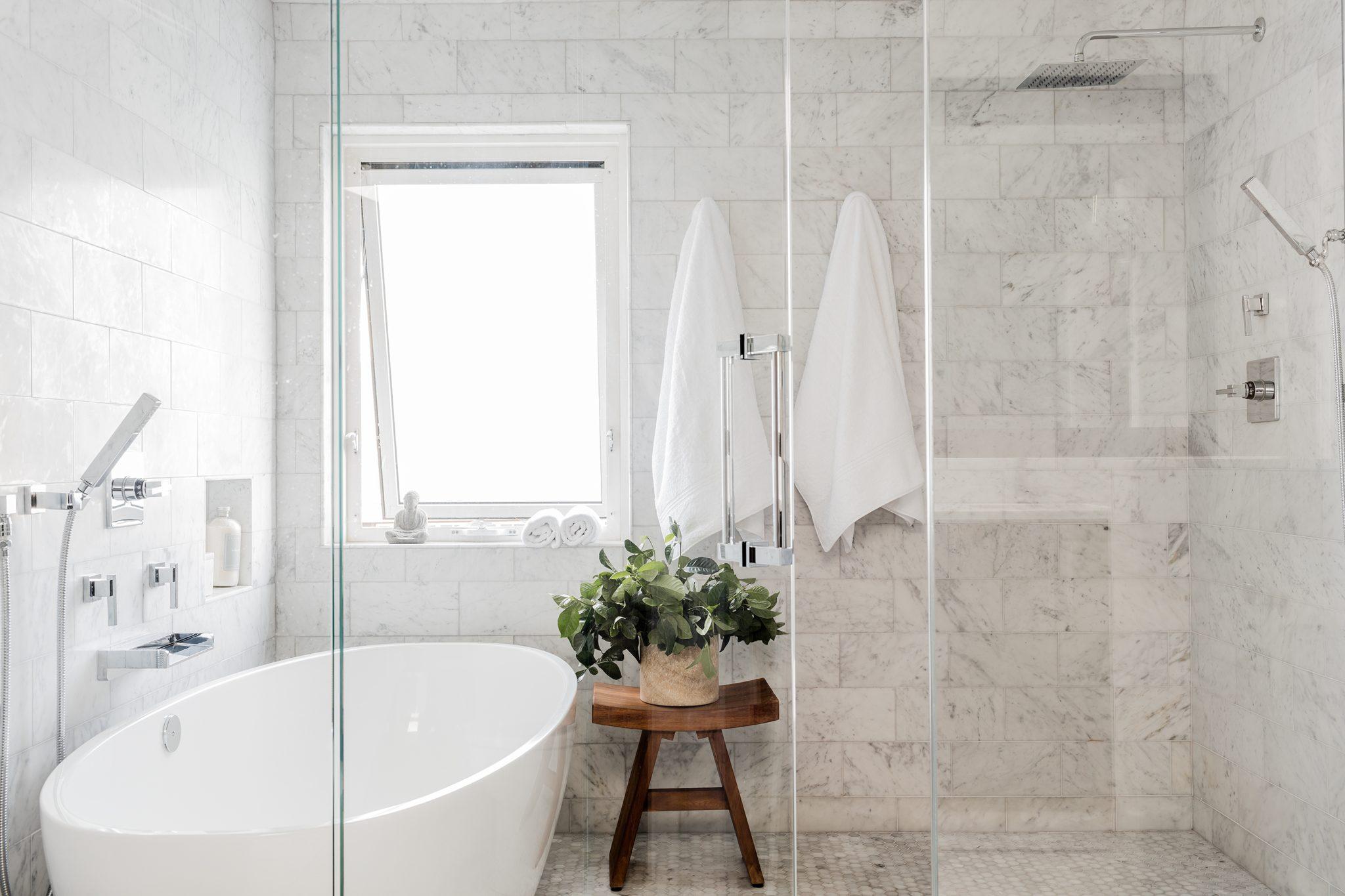Burroughs Wharf, Master Bathroom by Elms Interior Design