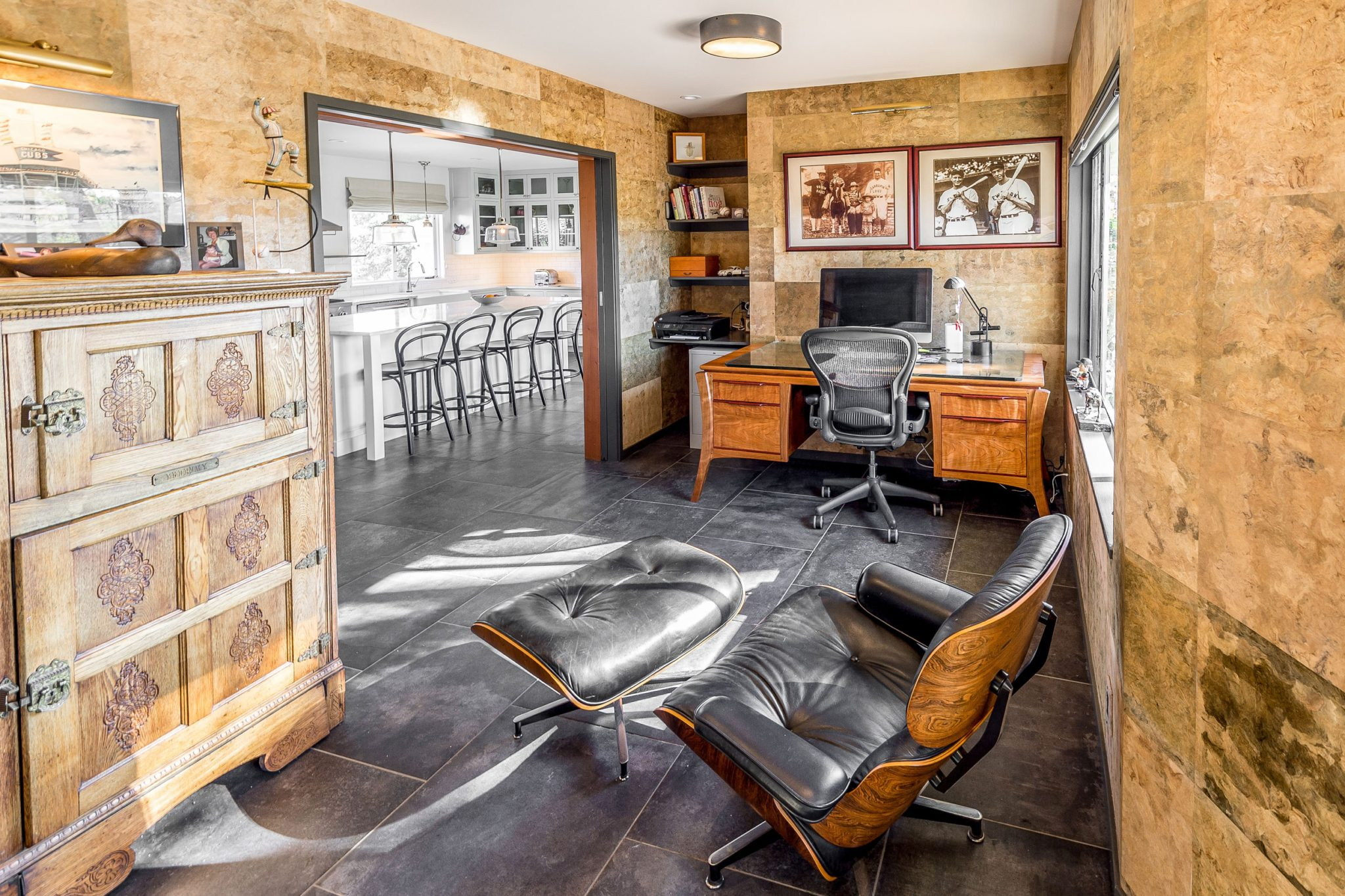 California Wine Country Renovation: Home Office andKitchen Beyond by Buccellato Design, LLC