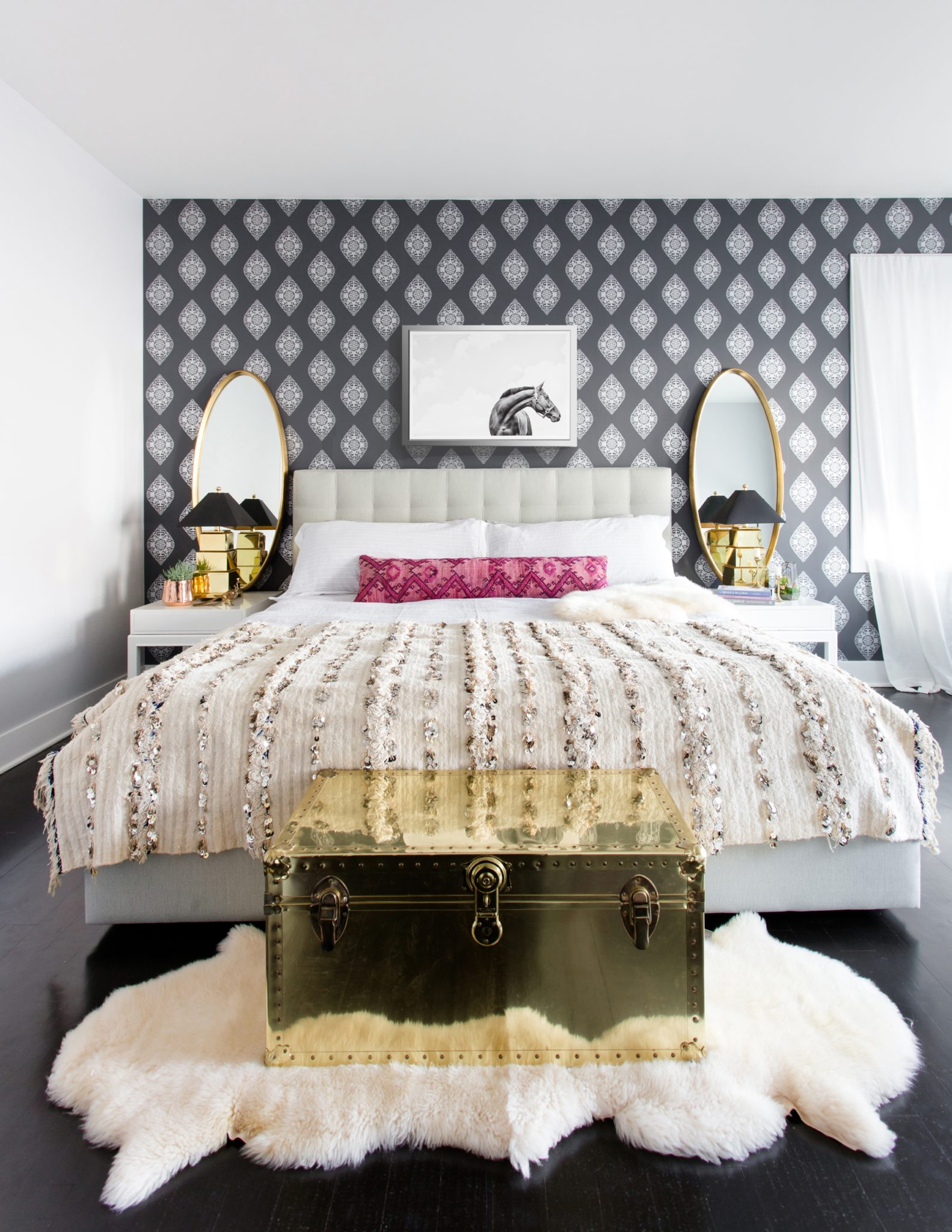 West Loop Bohemian Master Bedroom by Centered by Design
