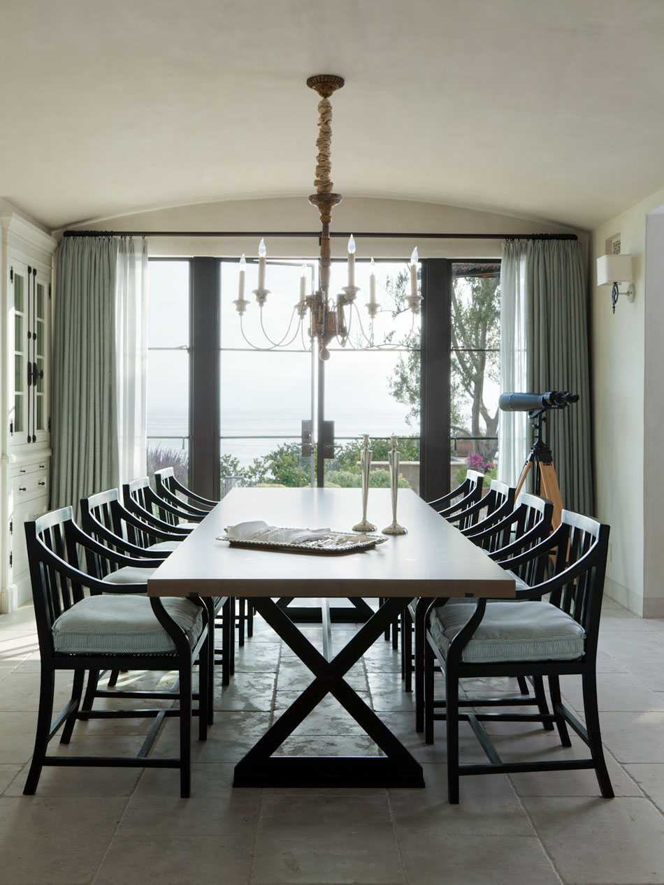 Dining room with a view by M. Elle Design