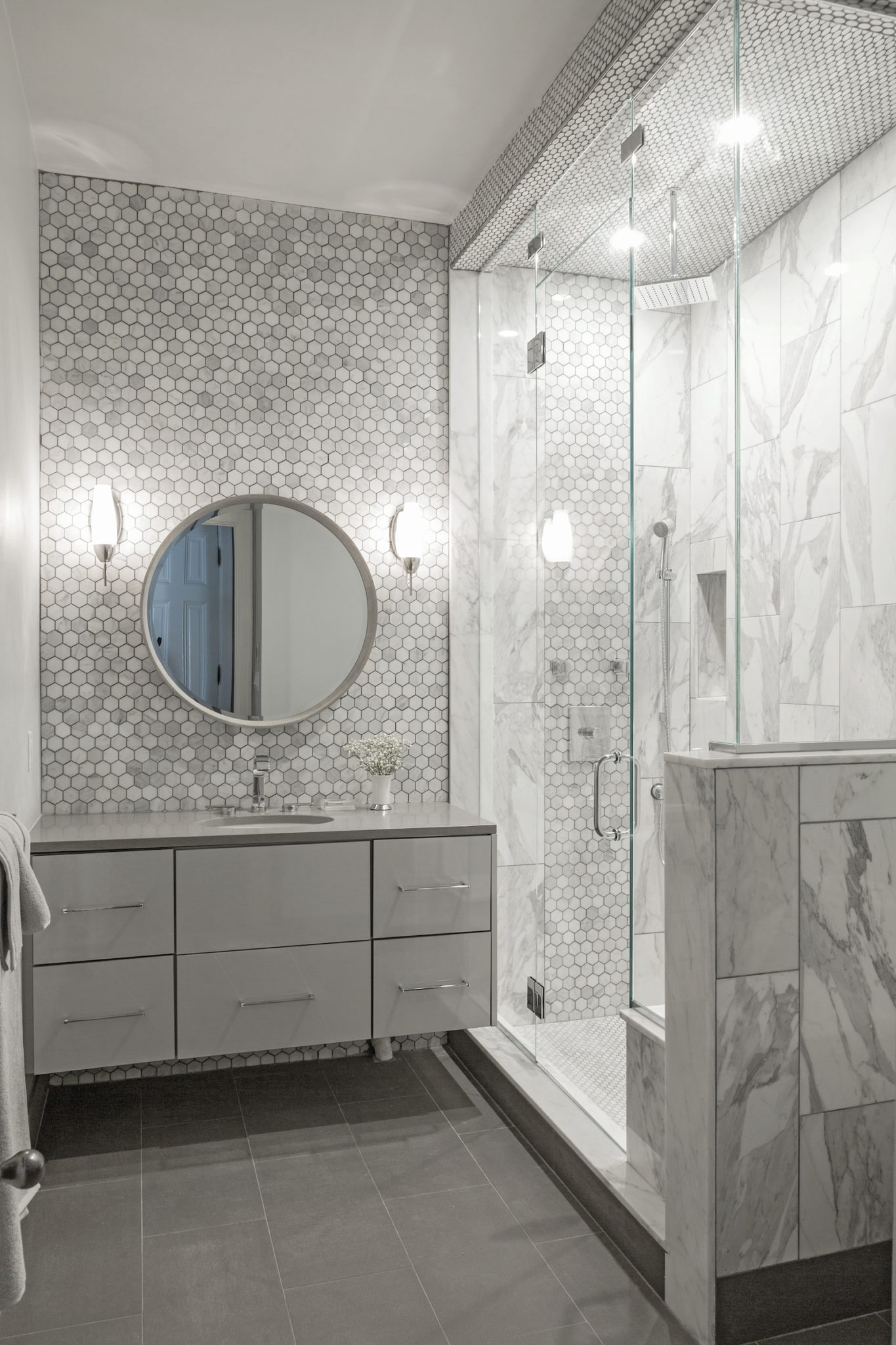 Downtown Loft Master Bathroom by Eclectic Home