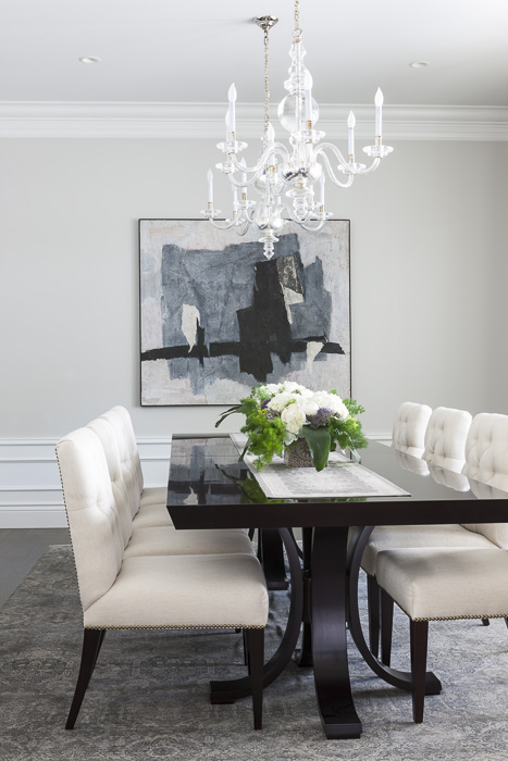 A sophisticated dining room by Marianne Simon Design
