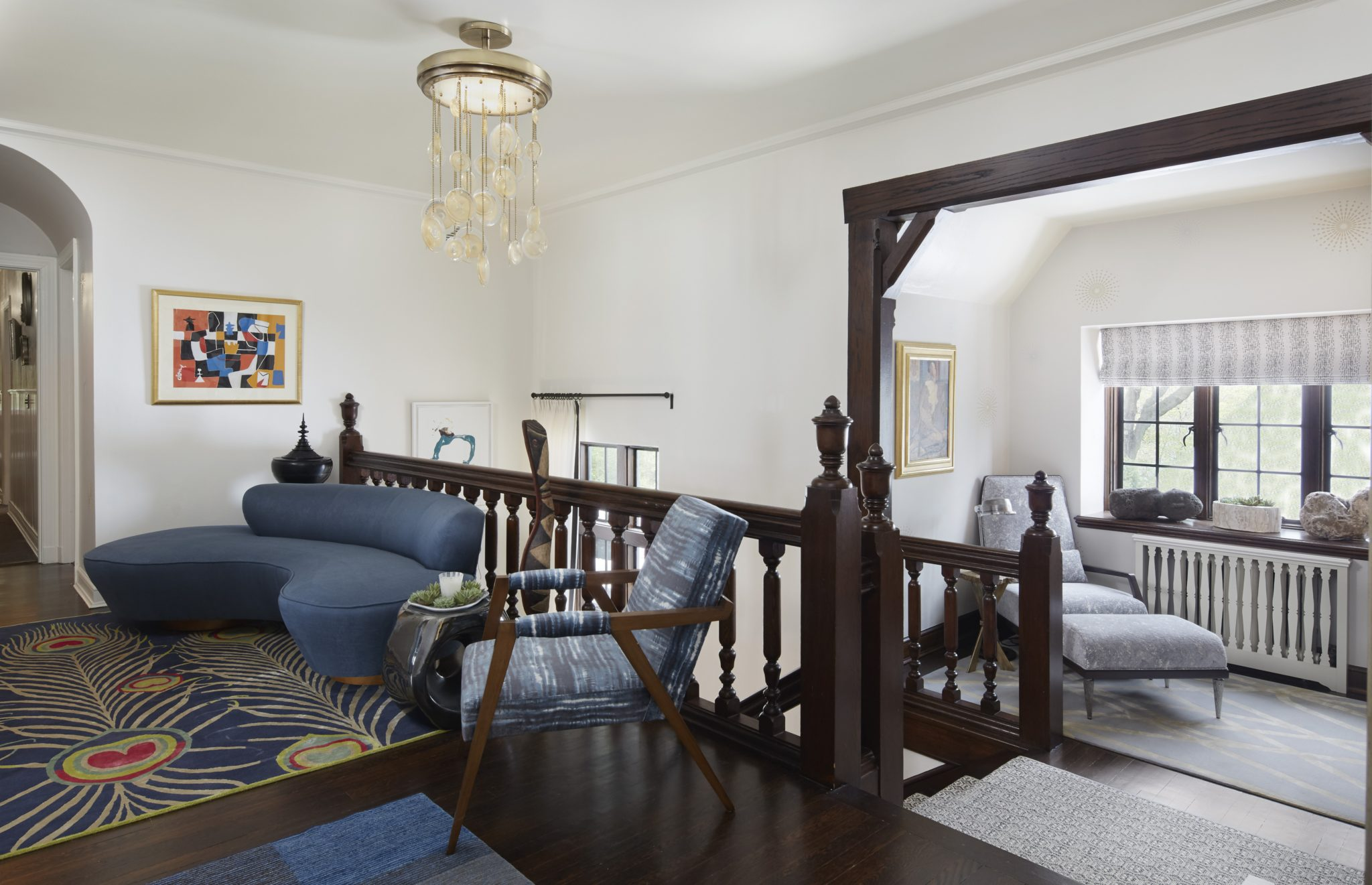 Second floor nook and landing by Gray lWalter