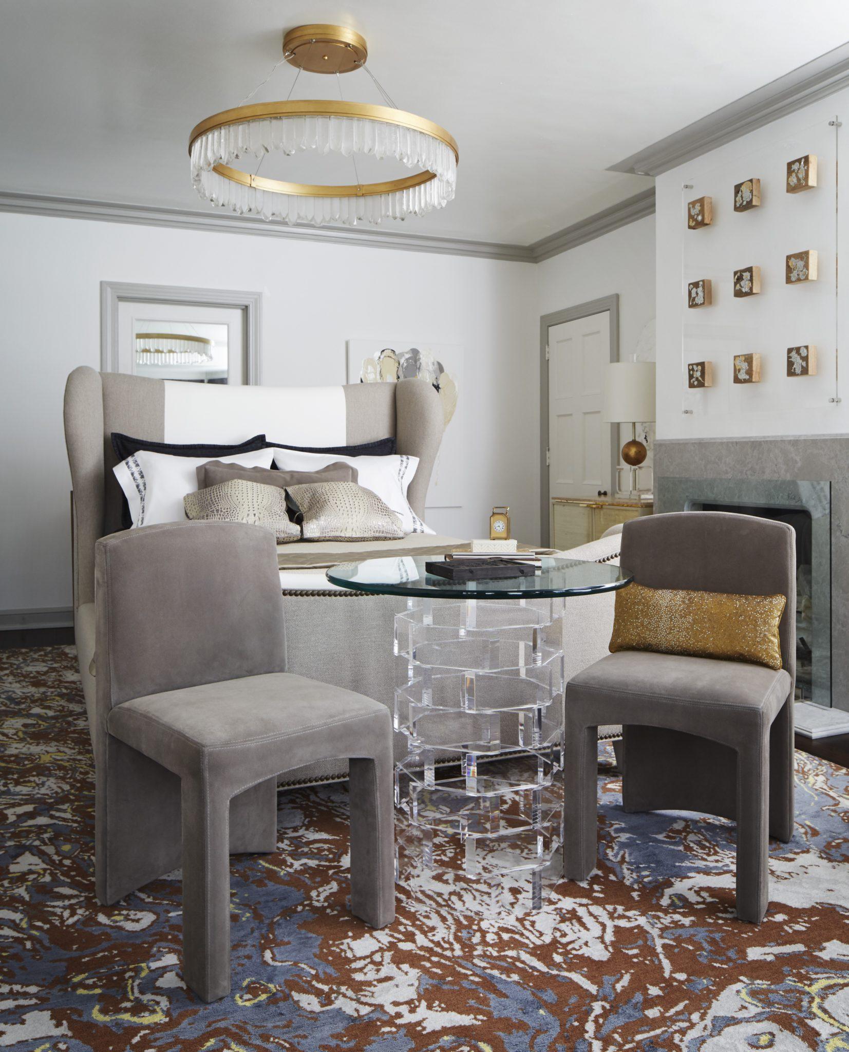 Master bedroom by Sweet Peas Design