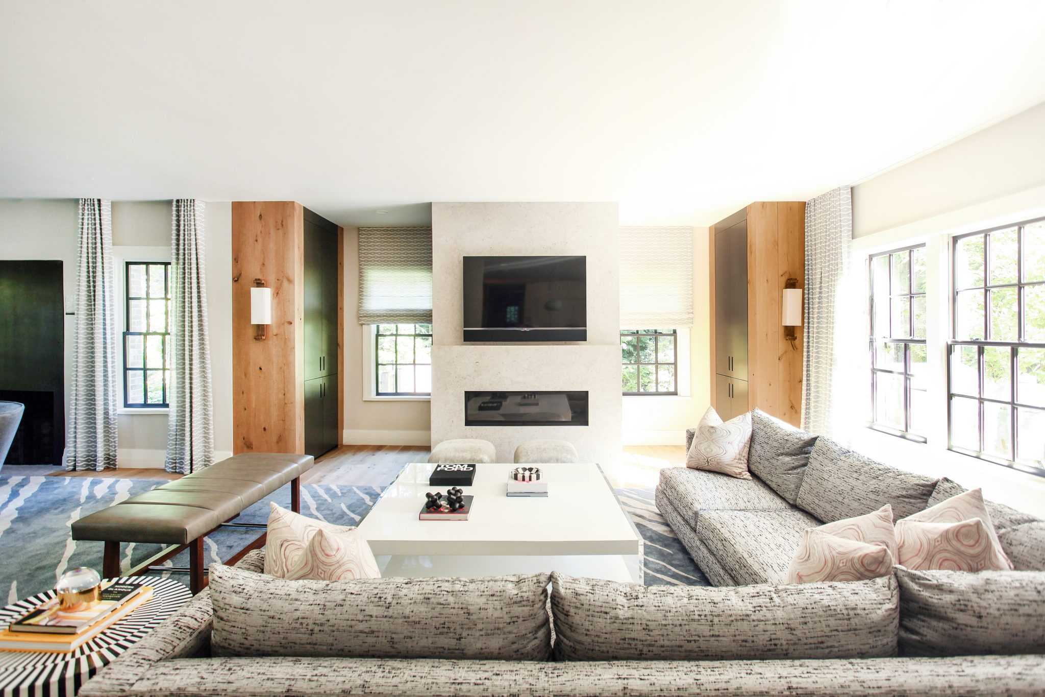 Living Room - Boston Project by Cara Woodhouse Interiors LLC