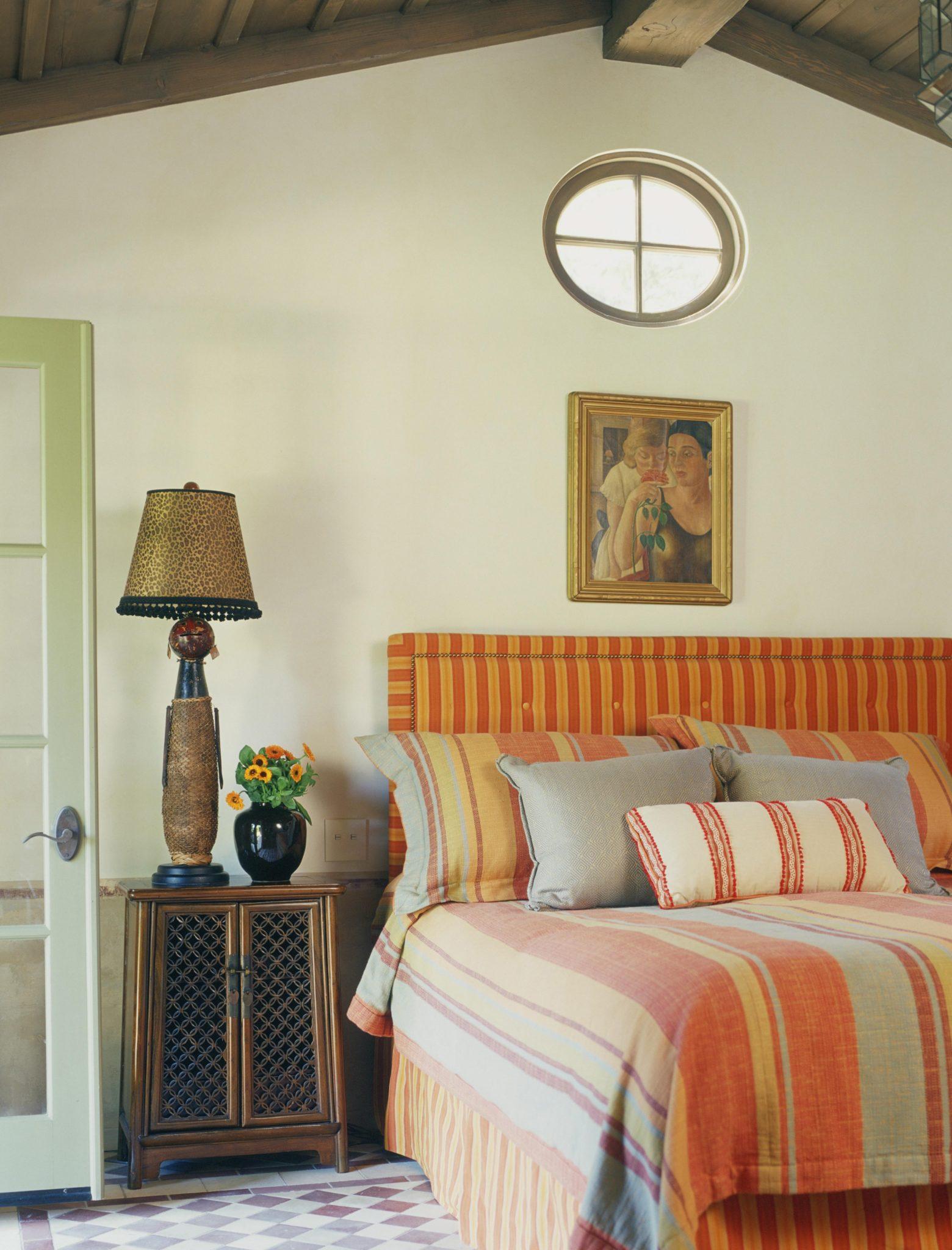 Guest house bedroom with Moroccan flavor designedby Thomas Callaway Associates, Inc.