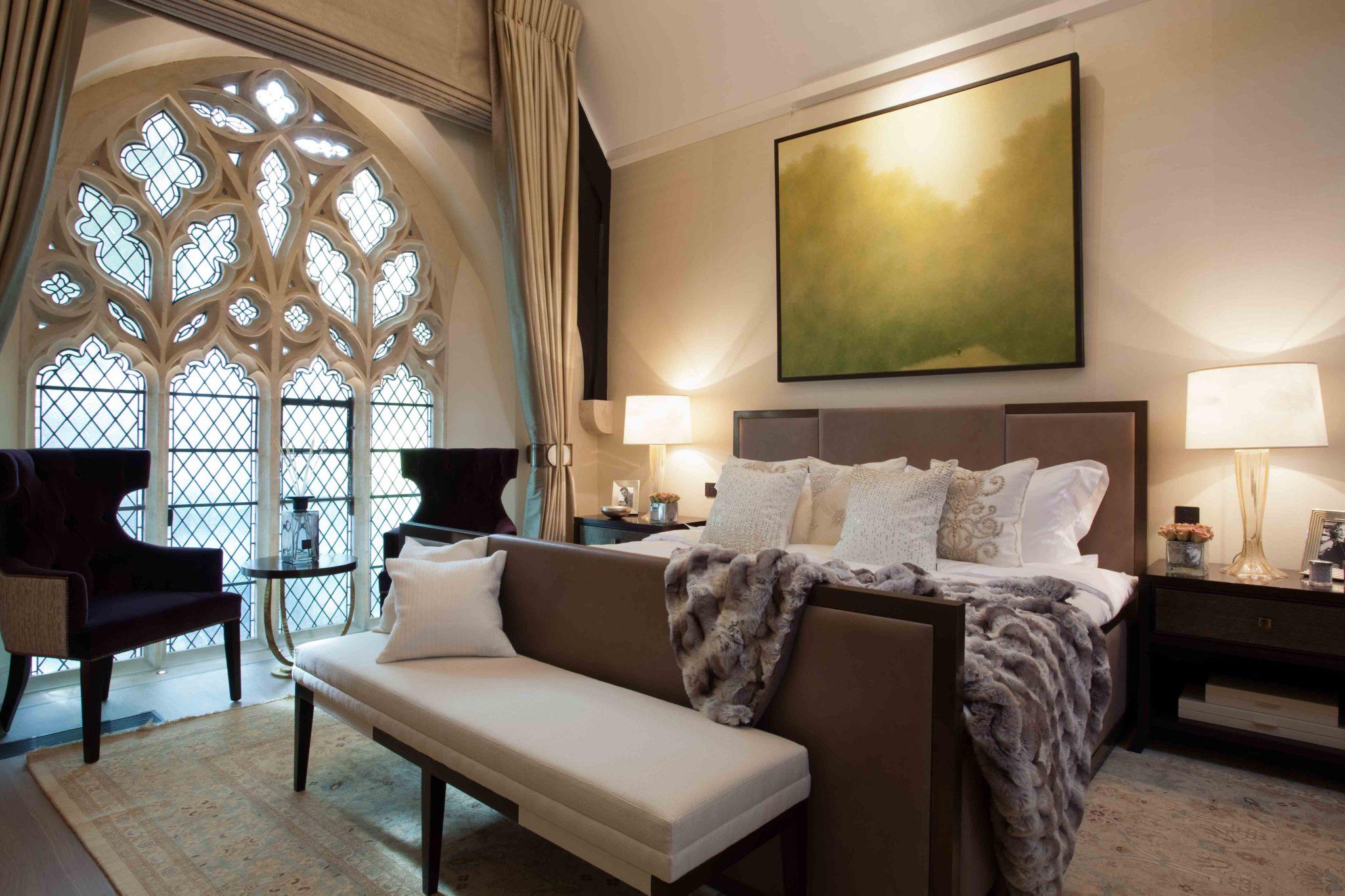 St. Saviours Church, Knightsbridge, London - master bedroom by Taylor Howes