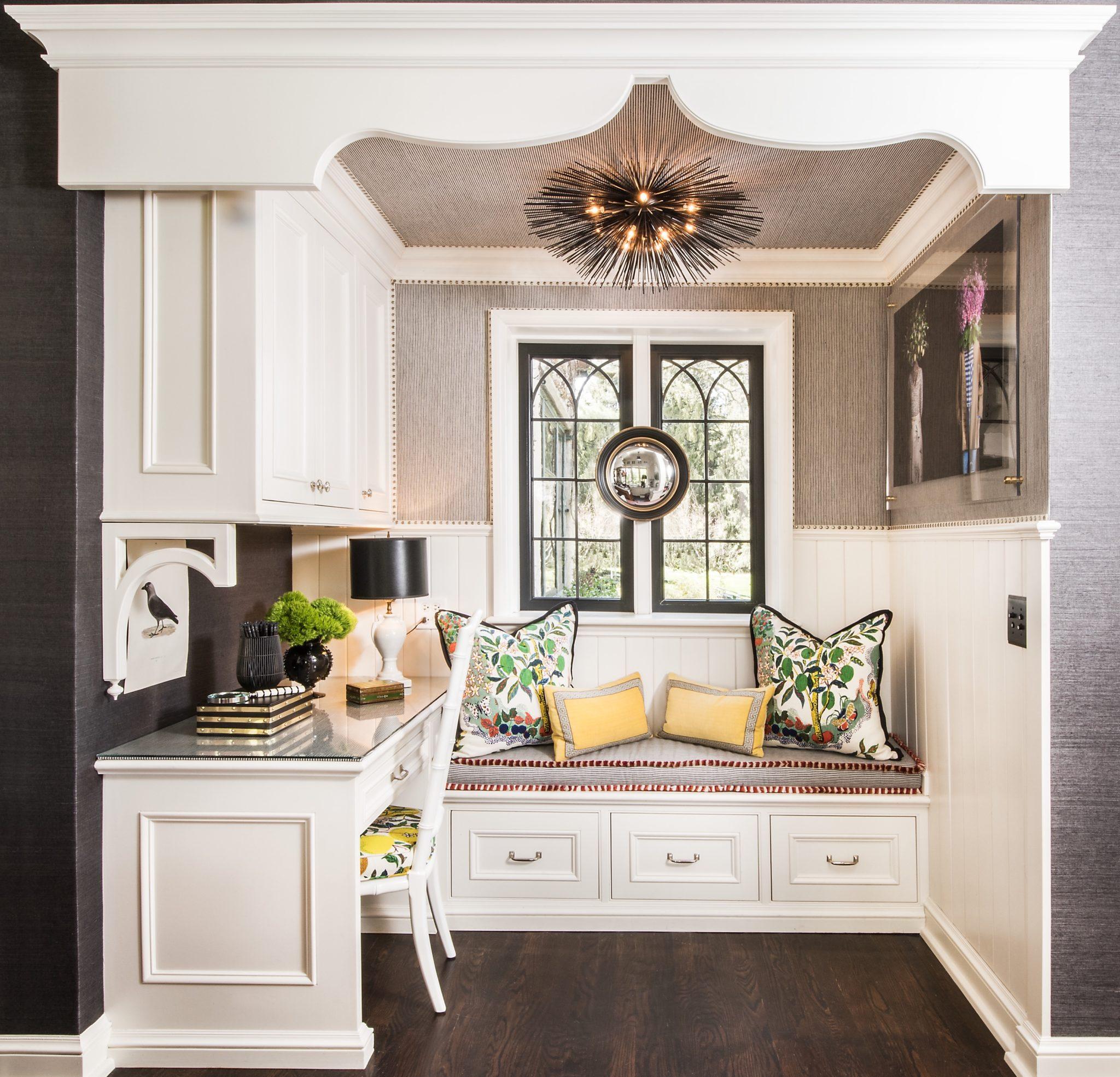 Kitchen office nook by M and M Interior Design