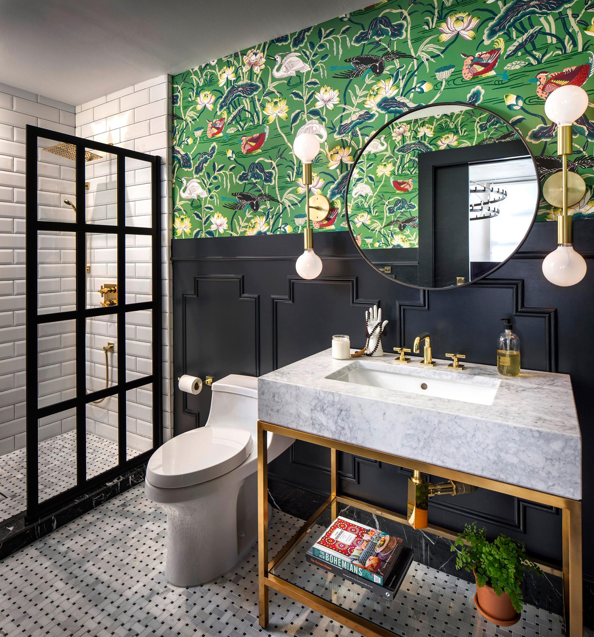 East Village Loft Guest Bathroom by CM Natural Designs