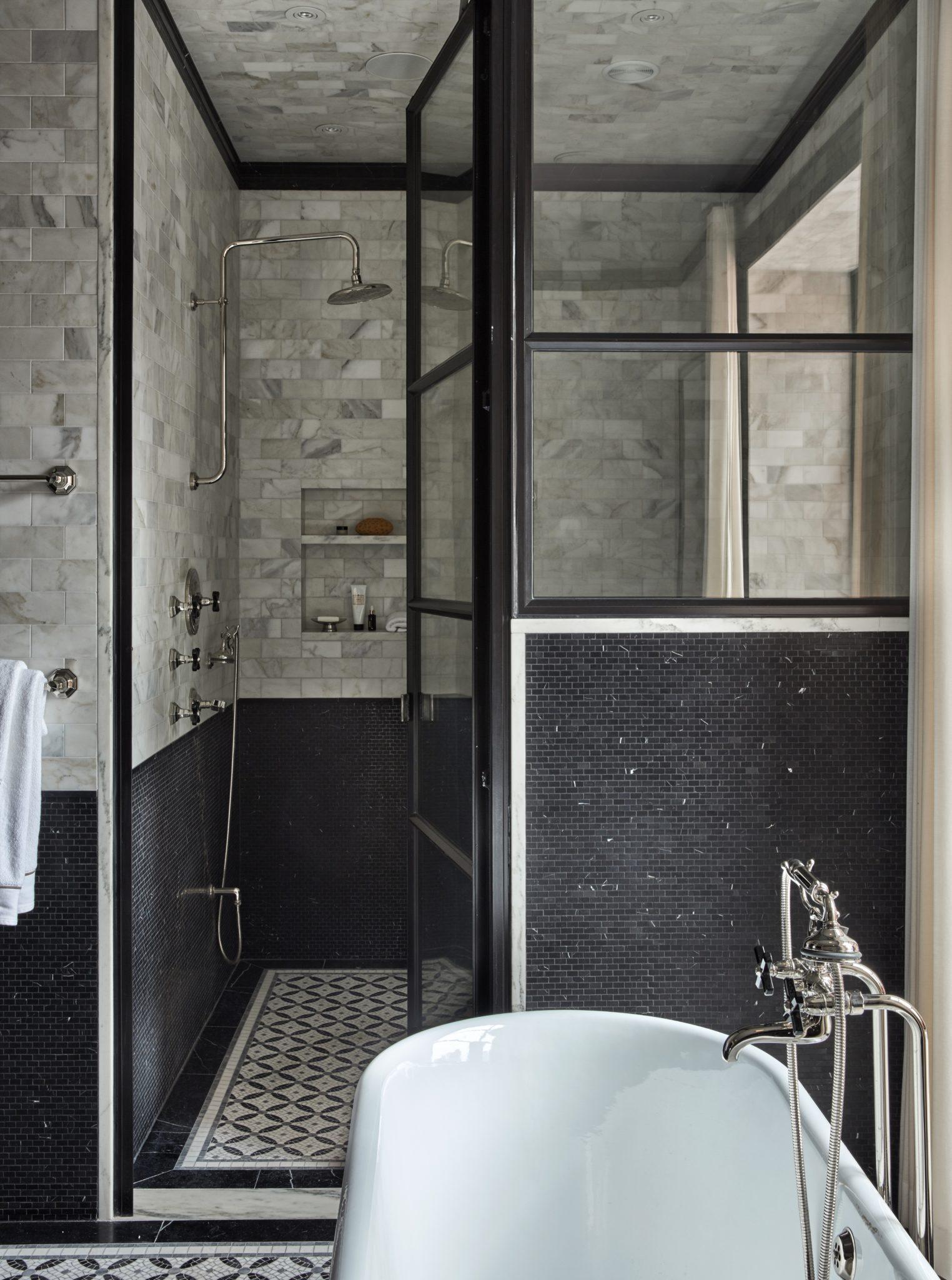 Delancey Street Townhouse, Master Bathroom by Ashli Mizell