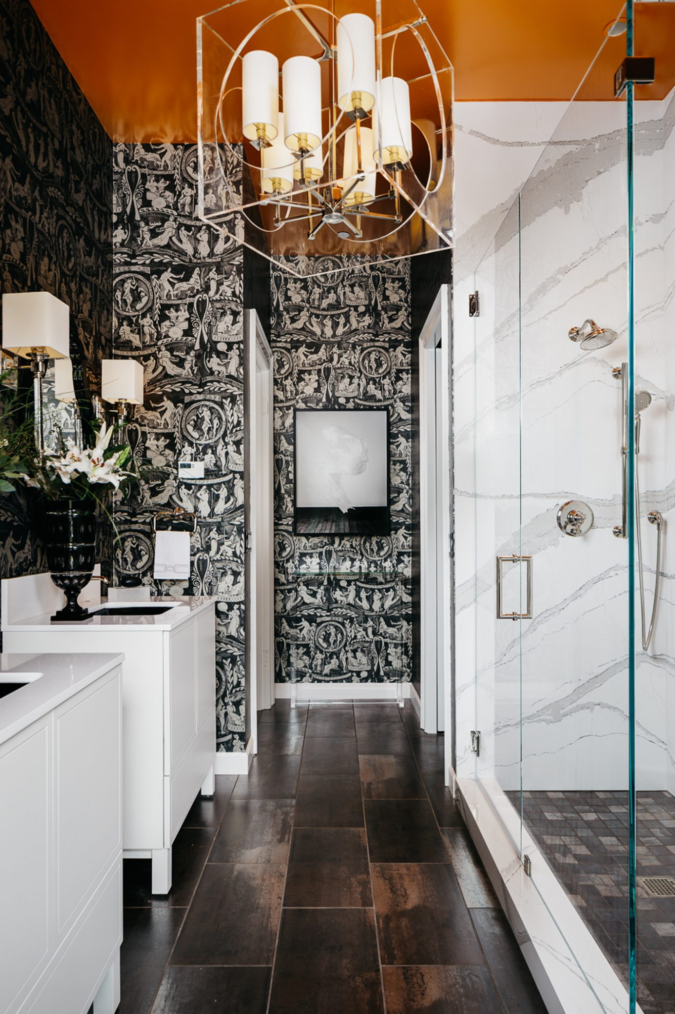 A small space often beckons for big statements. by Molie Malone Interior Design