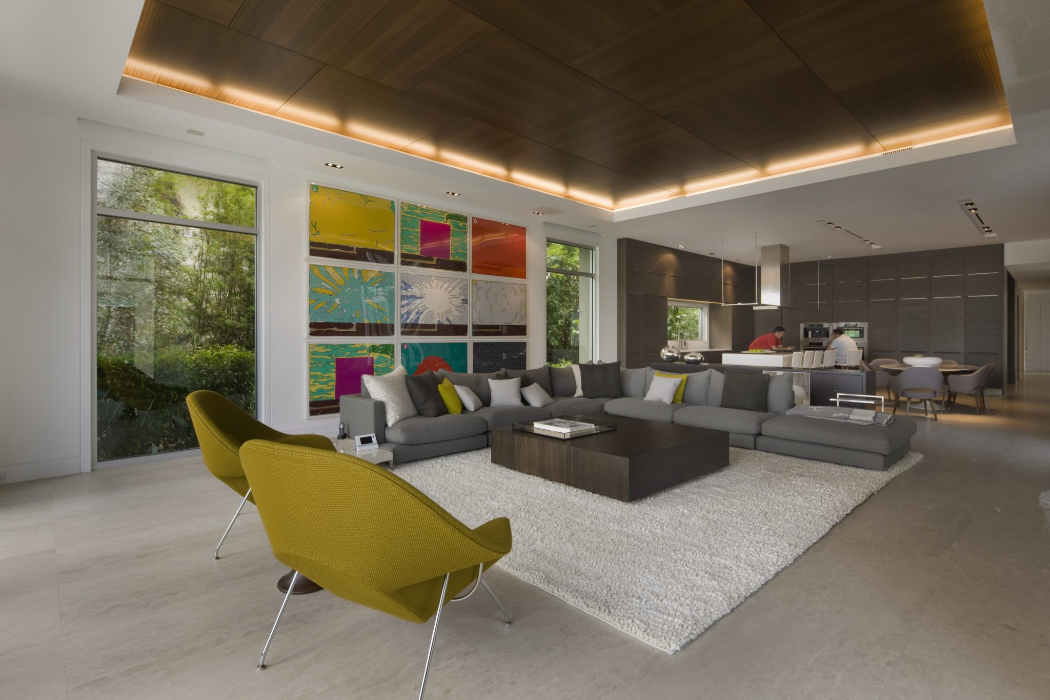A room designed for family, friends, and entertainment. by Michael Wolk Design Associates