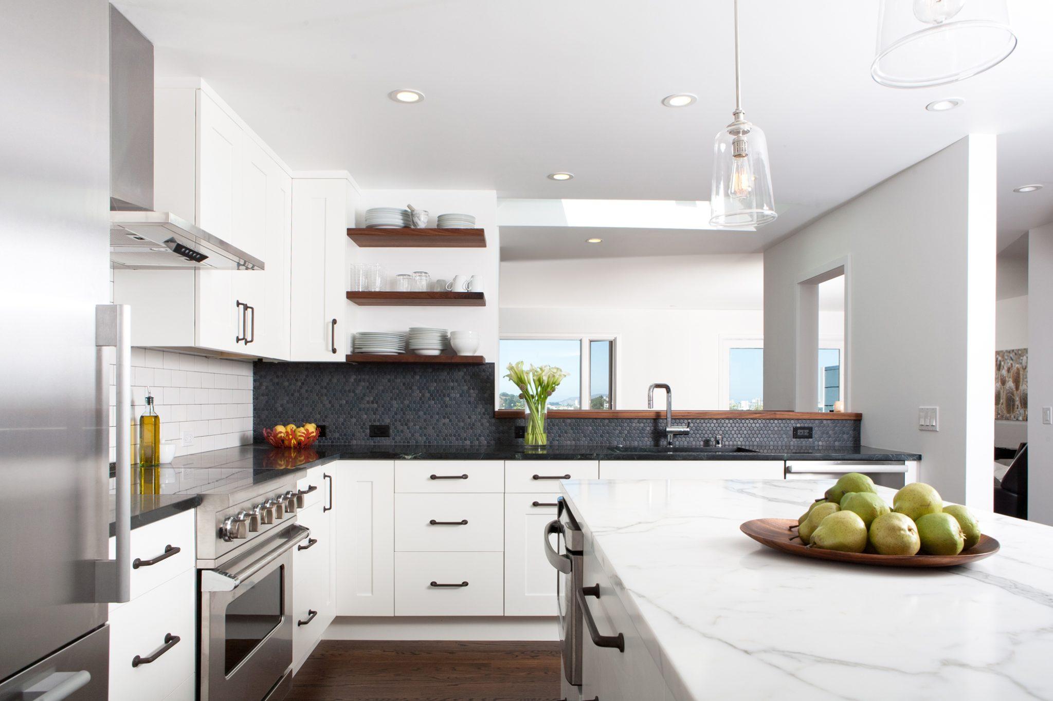 Noe Valley industrial, modern kitchen by Regan Baker Design