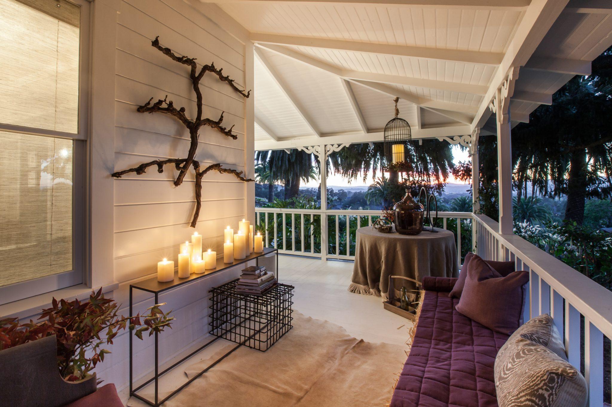 Napa Victorian farmhouse porch sunset view by Miyuki Yamaguchi Design Studio