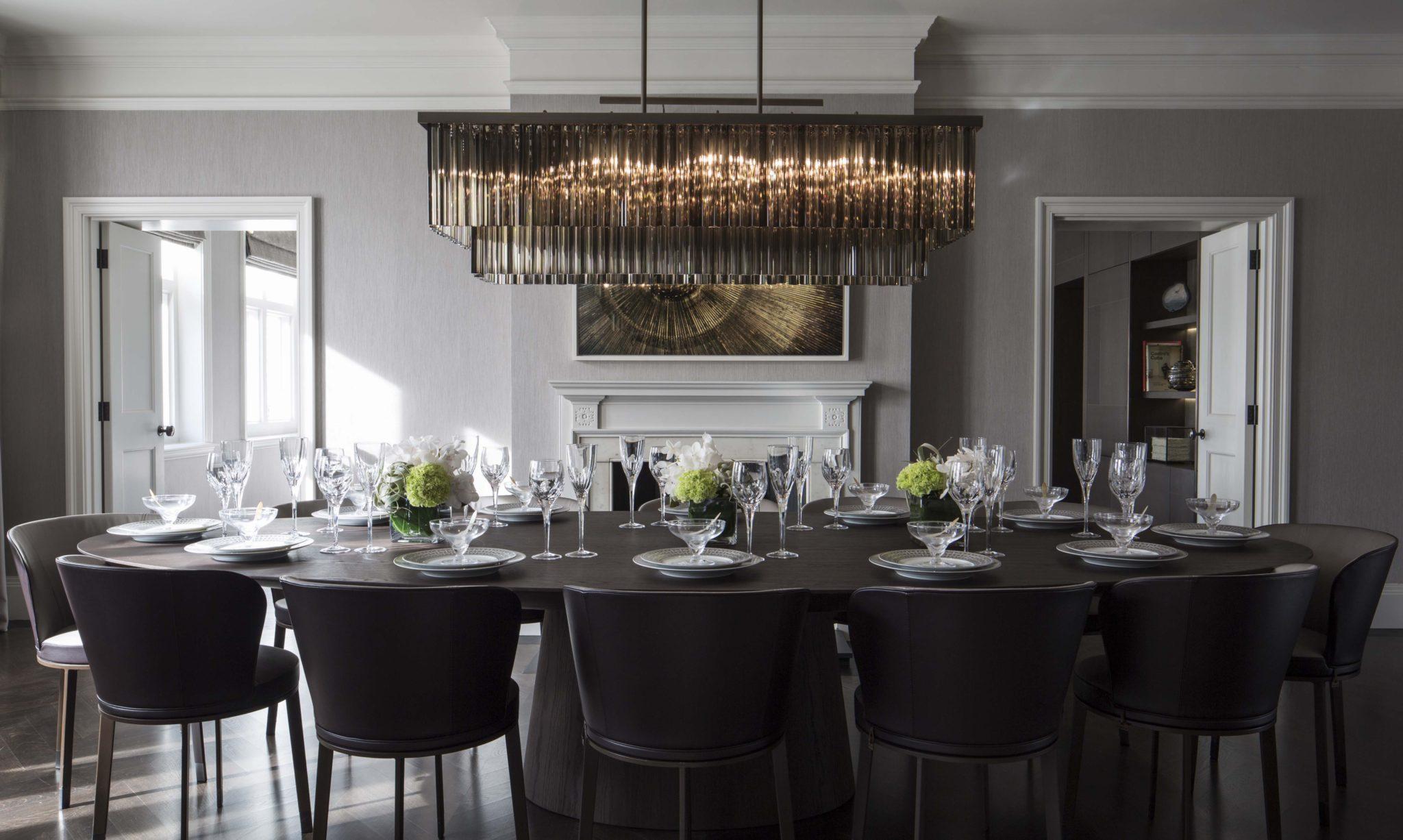 Knightsbridge Splendour - Dining room by Staffan Tollgard