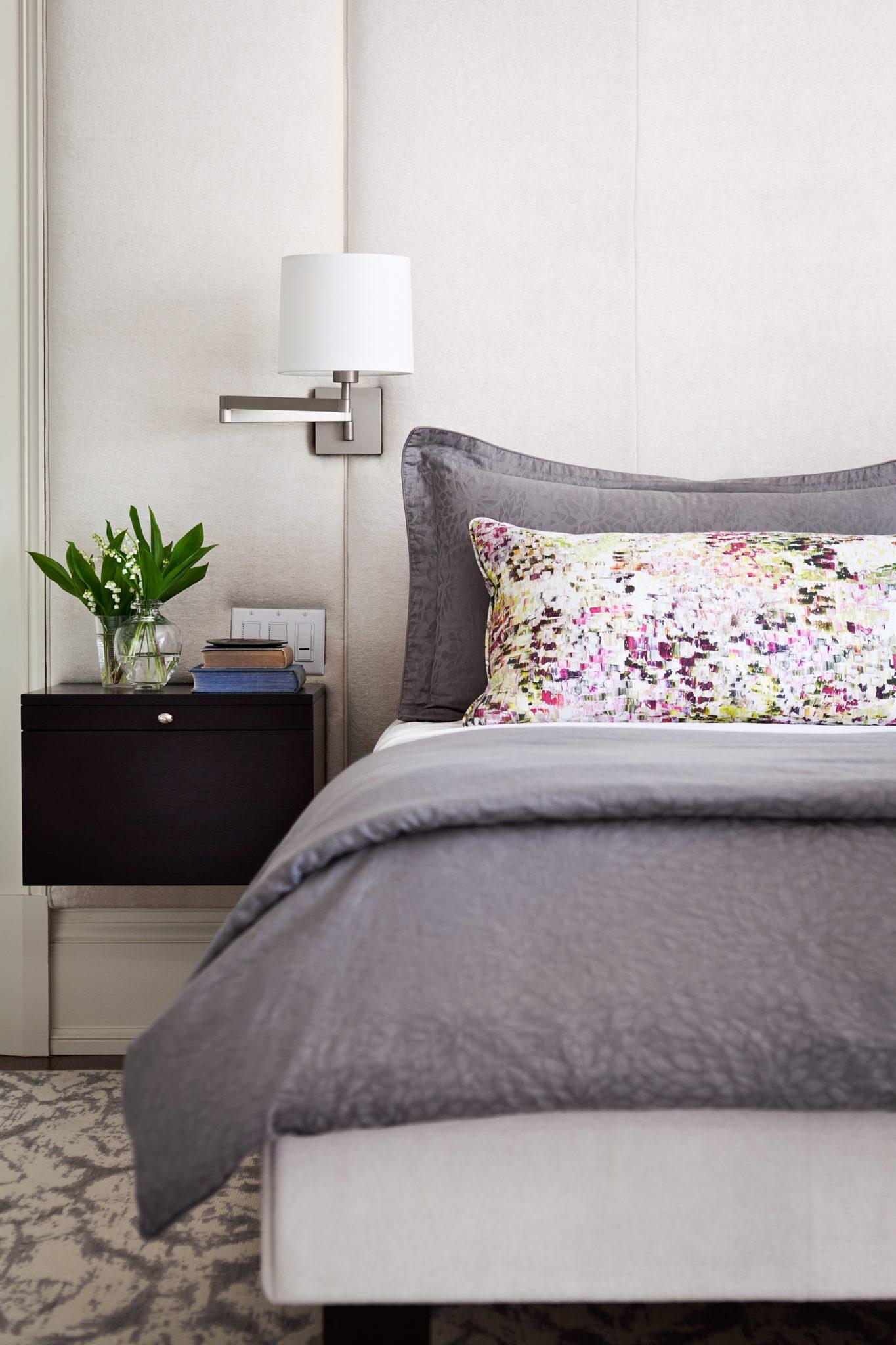 St. Andrews home - master bedroom by Jennifer Worts Design
