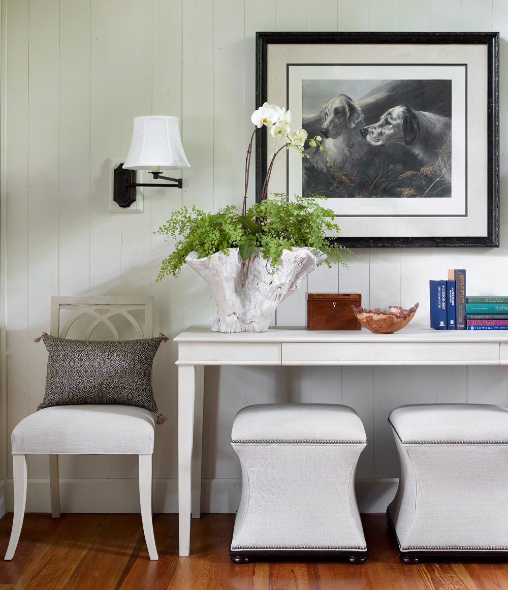 Library table by McLaurin Interiors