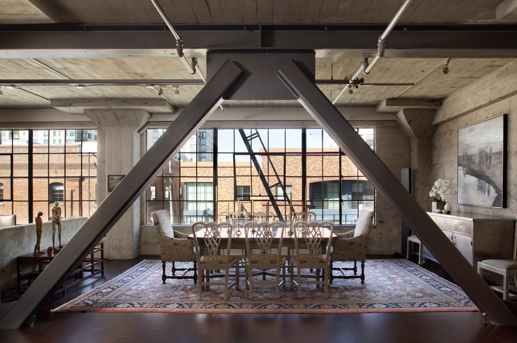 A 3,000-square-foot loft in San Francisco. Modern interiors were inserted within the existing industrial space. By Cass Calder Smith | CCS Architecture