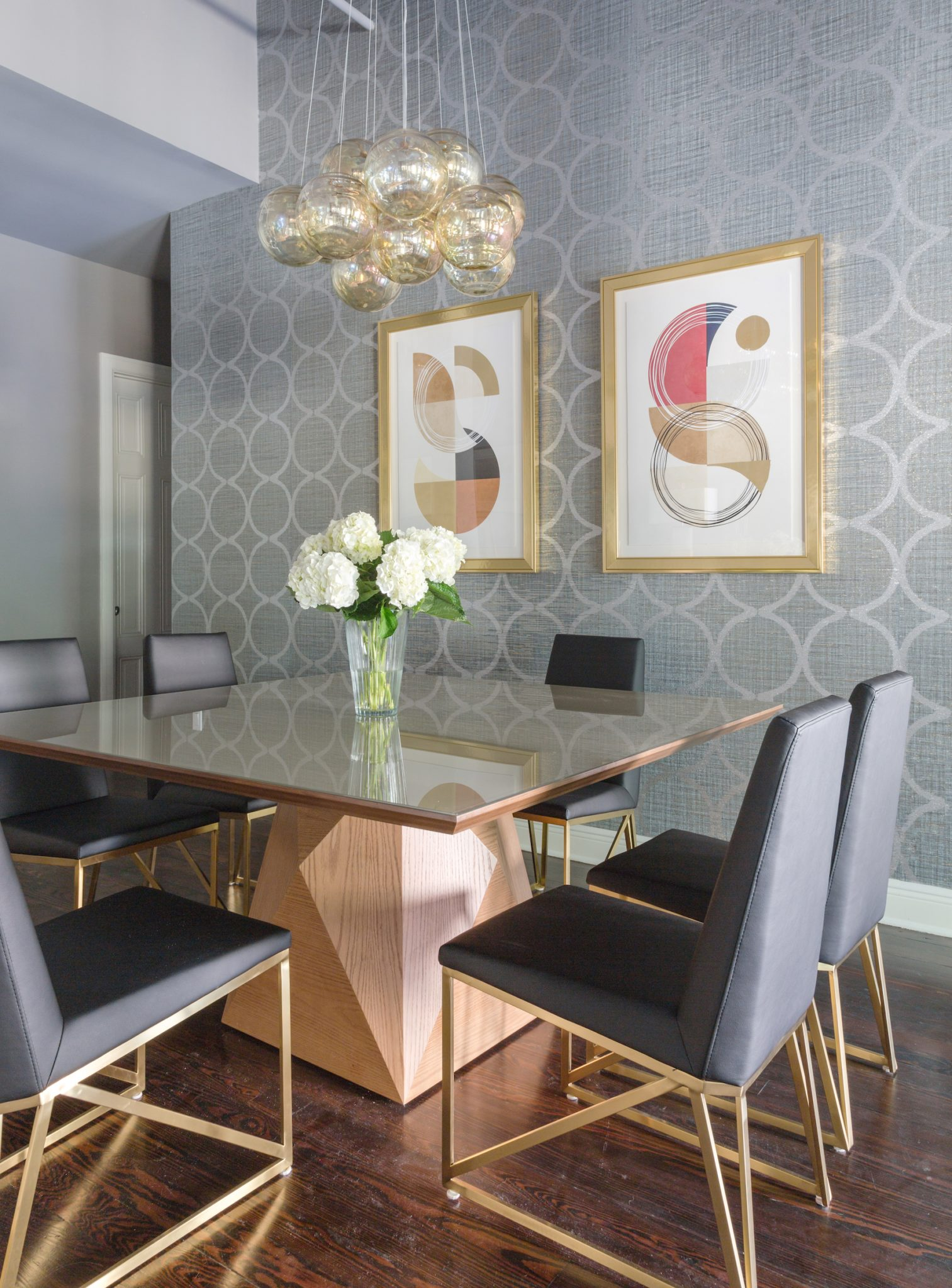 Downtown loft dining room by Eclectic Home