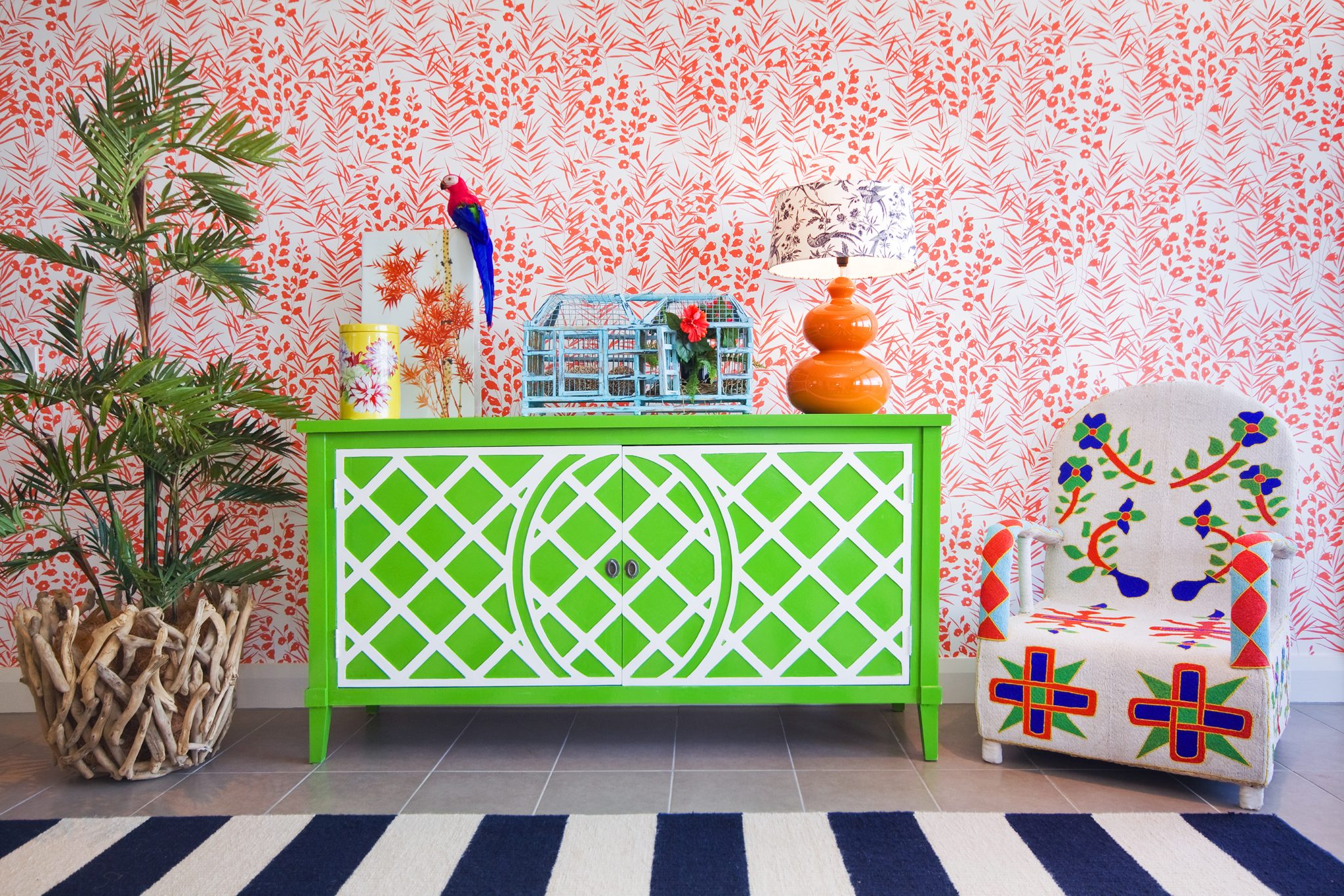 Caribbean Delight using bold saturated color by Bronwyn Poole by Touch Interiors