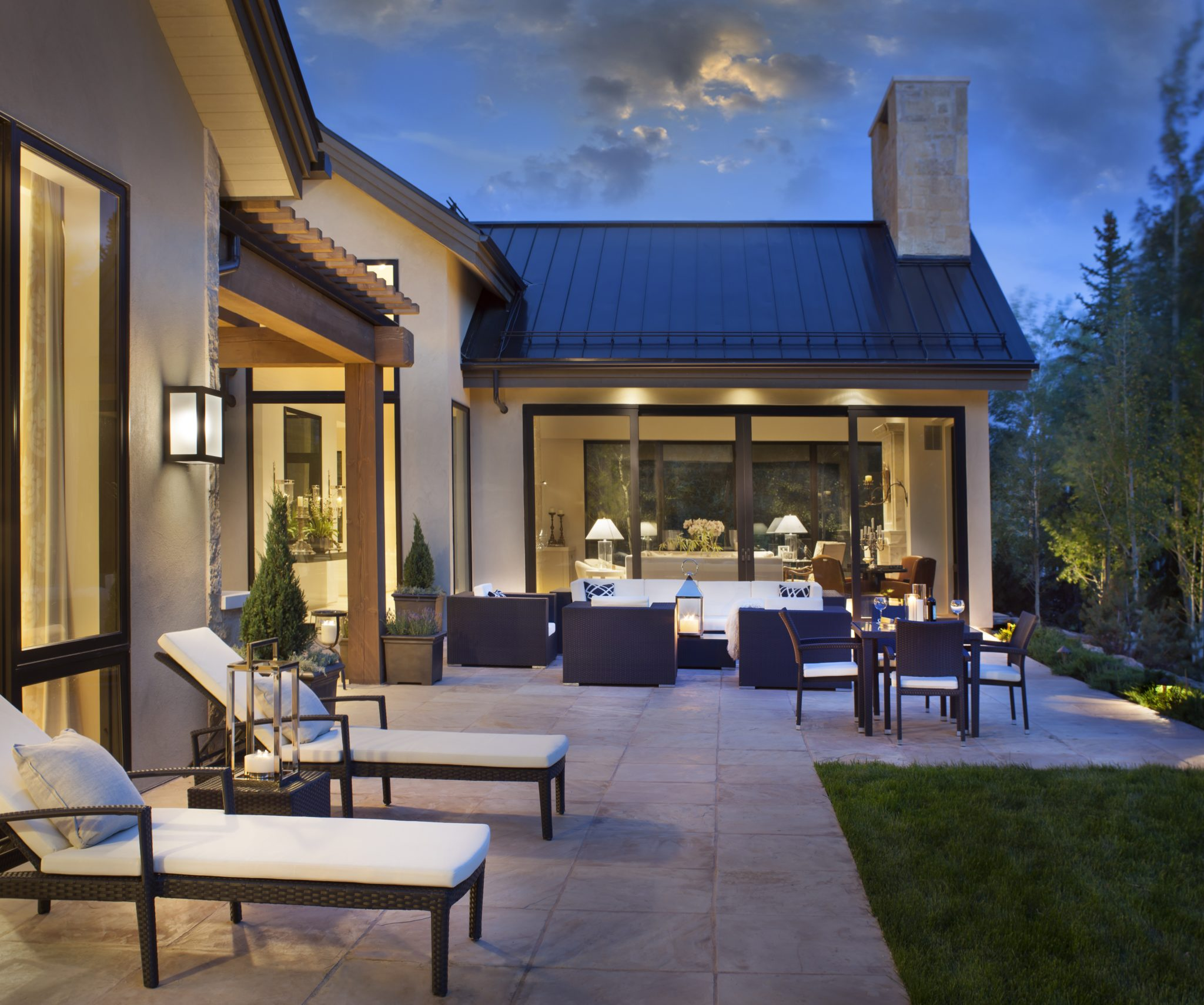 Patio takes advantage of summer in the mountains by Brewster McLeod Architects
