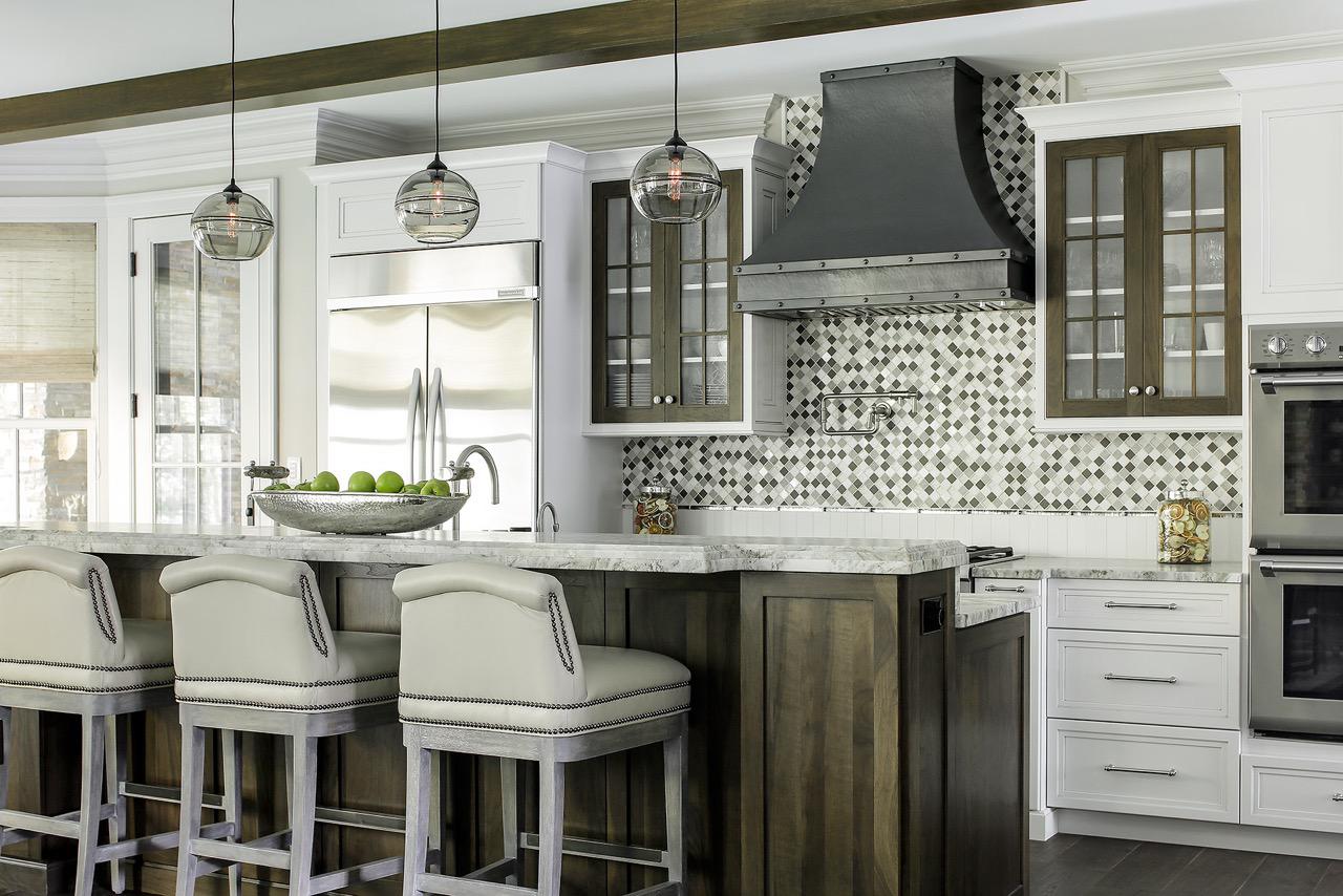 A modern yet rustic kitchen by Karen B Wolf Interiors