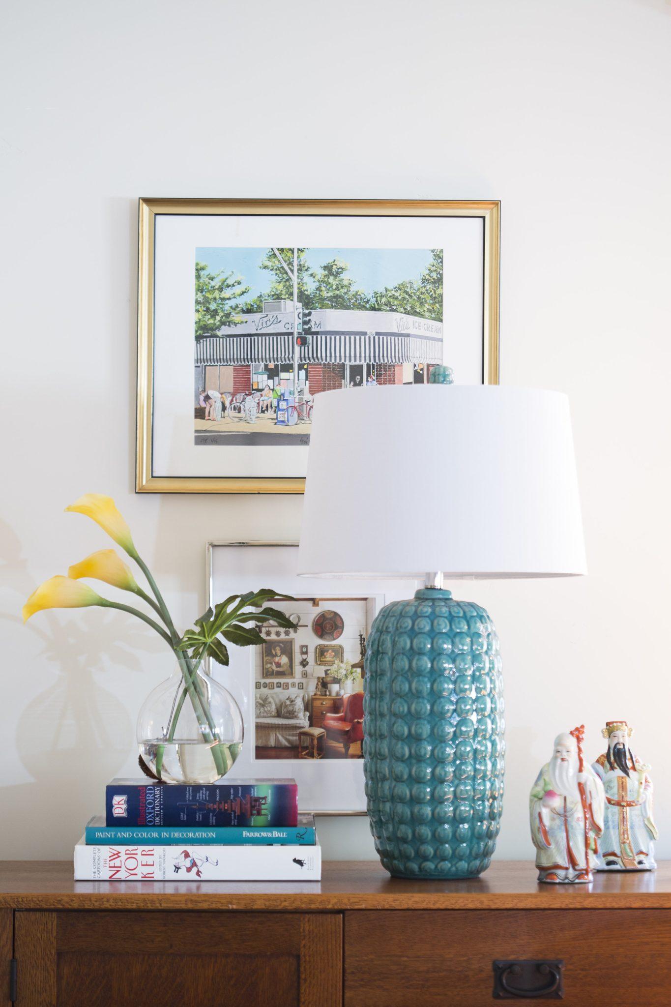 Eclectic family room vingette in Land Park, Sacramento, by PepperJack Interiors