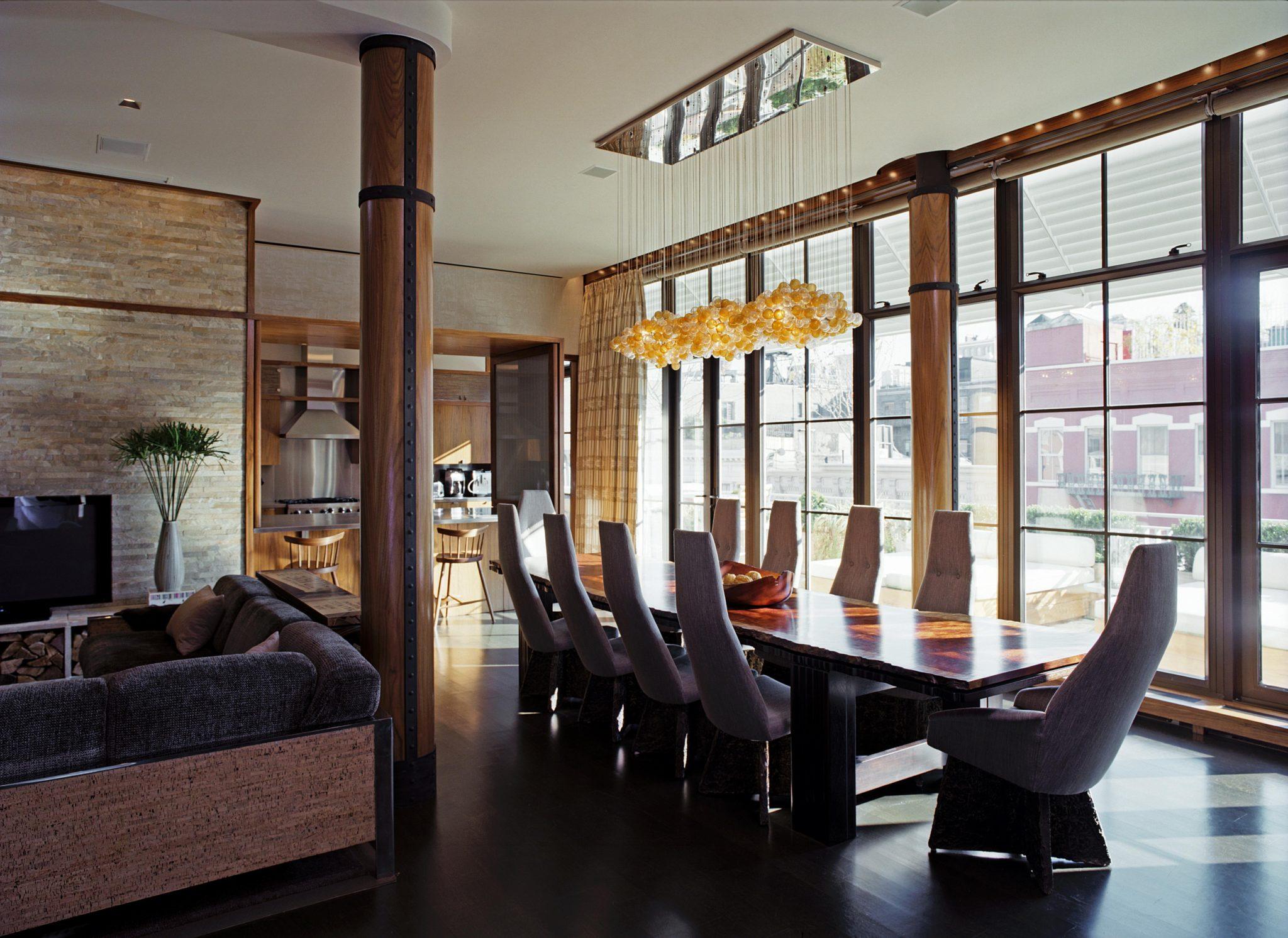 Soho Loft Dining Room by de la Torre design studio llc.