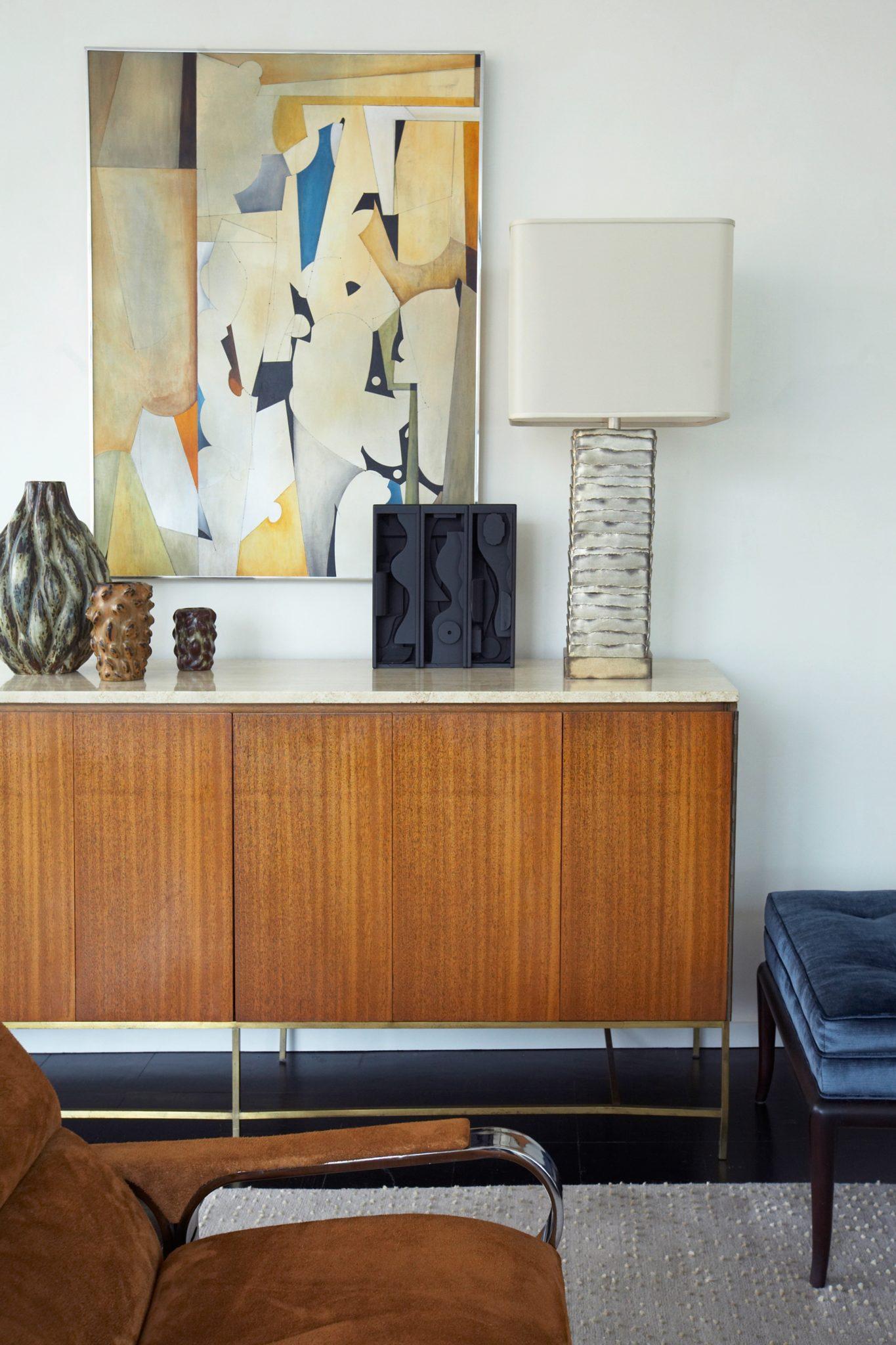 UN Plaza living room by David Scott Interiors, LTD.