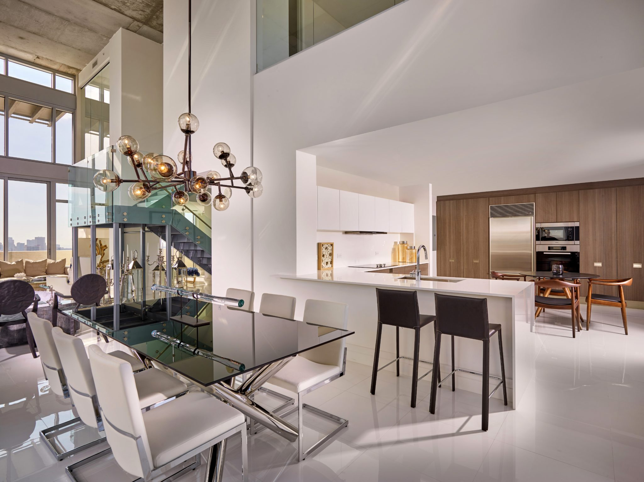 Midtown model unit PH6 - dining/kitchen space by RS3 DESIGNS