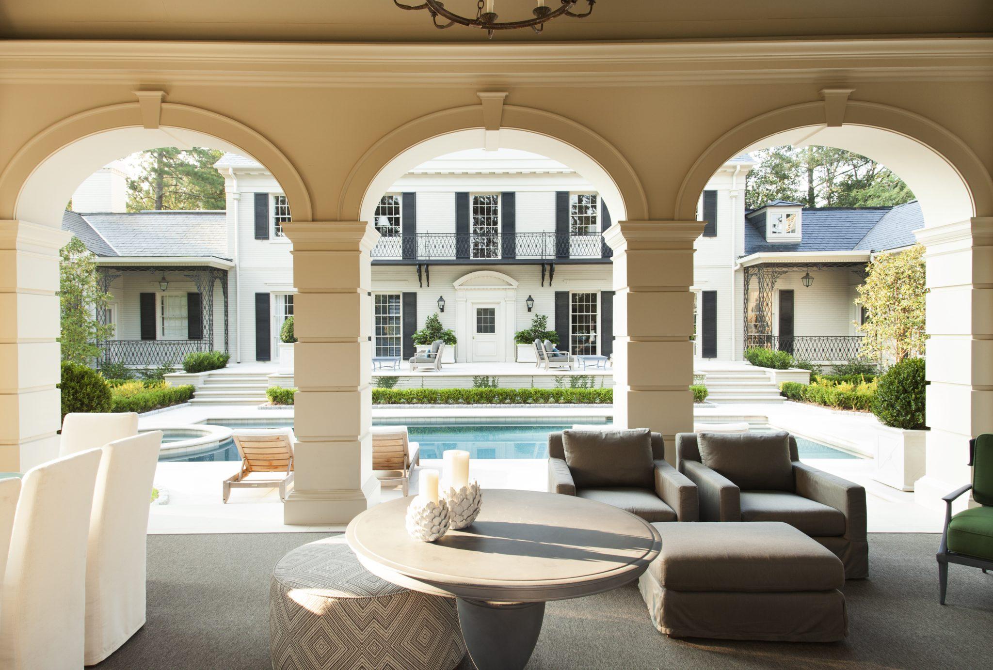 Cabana, pool andgarden by Howard Design Studio