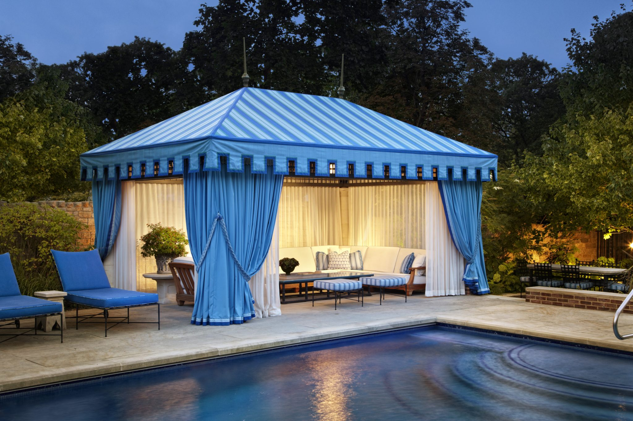 Tented poolhouse by Bruce Fox