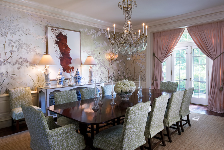 Dining Room, Knollwood Residence, Houston, Texas by Curtis & Windham Architects