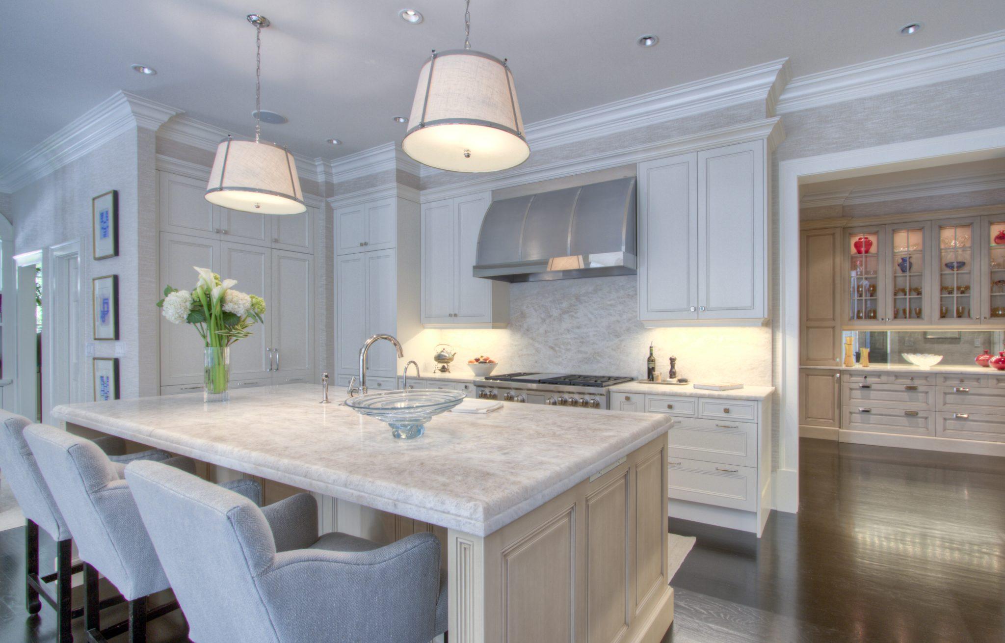A sleek kitchen designby The Design Atelier